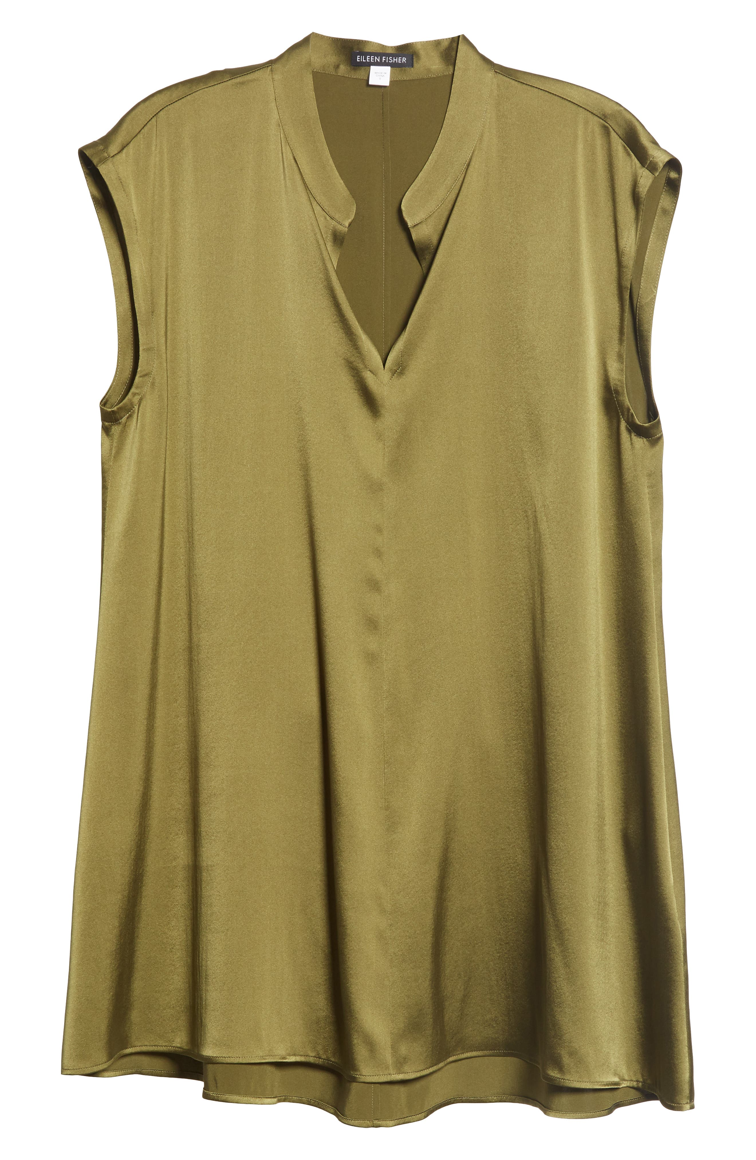 Stretch Silk Top,                             Alternate thumbnail 6, color,                             301