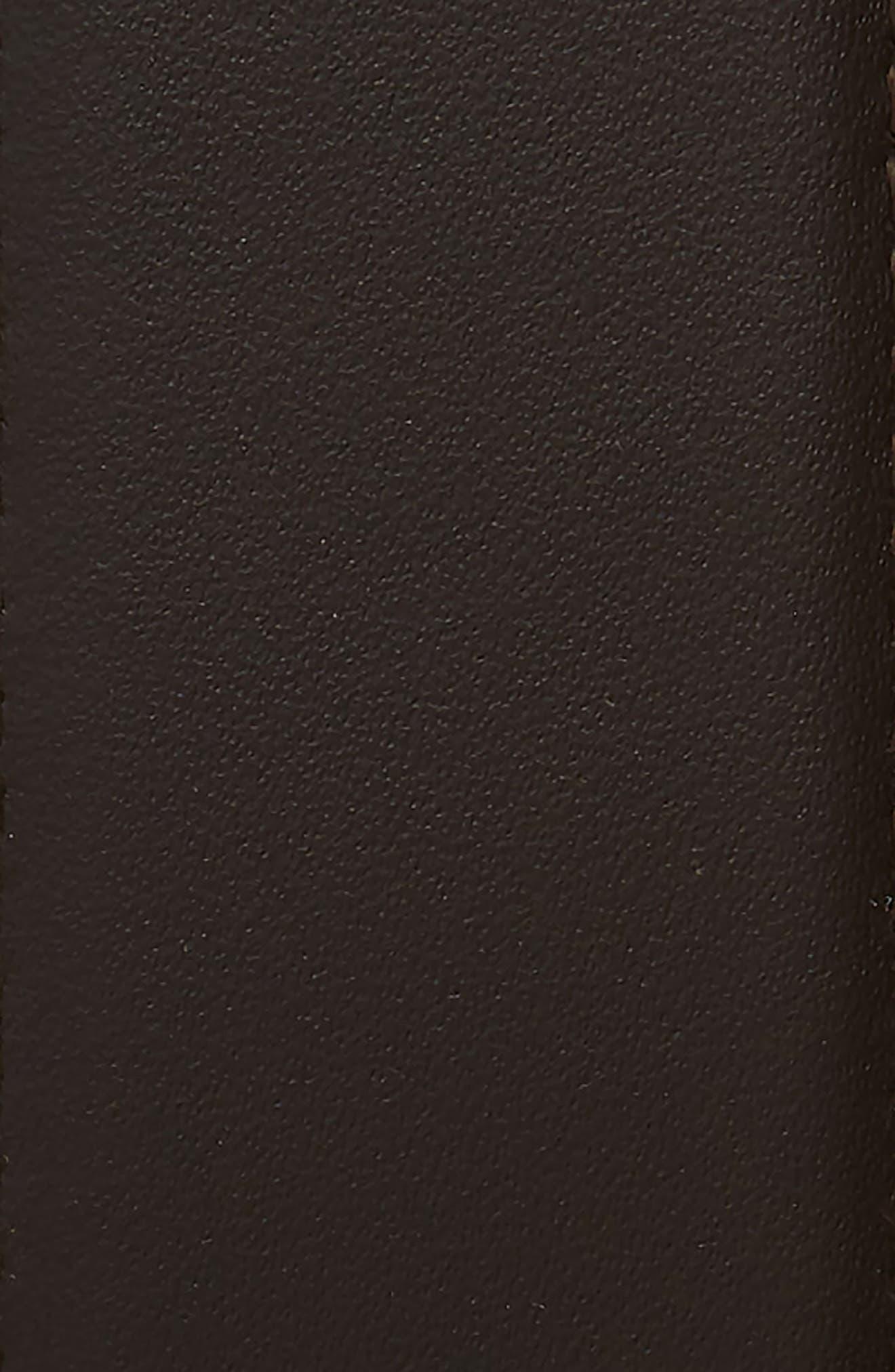 SALVATORE FERRAGAMO,                             Leather Belt,                             Alternate thumbnail 3, color,                             HICKORY/ NERO
