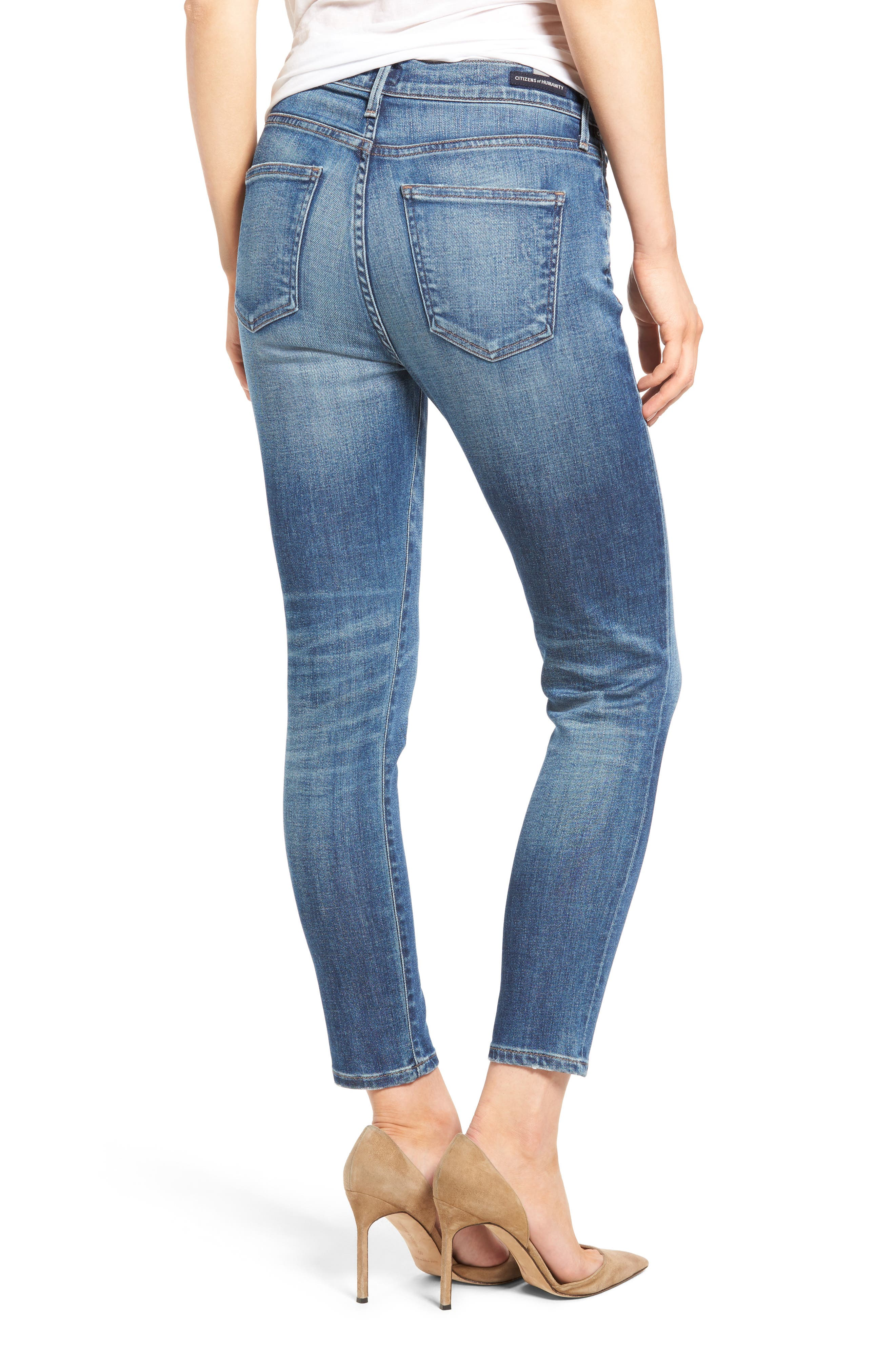 Rocket High Waist Crop Skinny Jeans,                             Alternate thumbnail 2, color,                             409