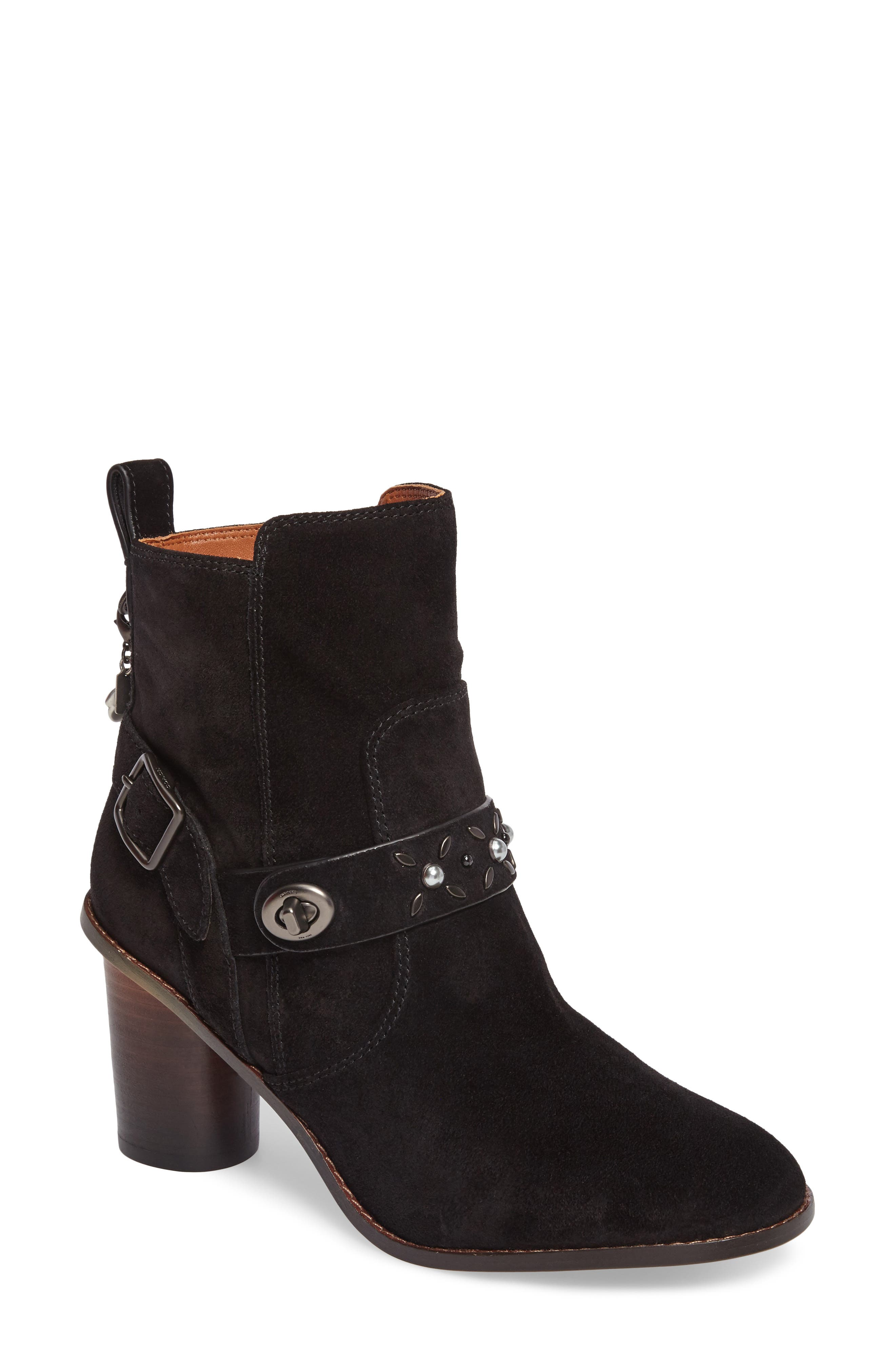Studded Western Boot,                         Main,                         color, 001