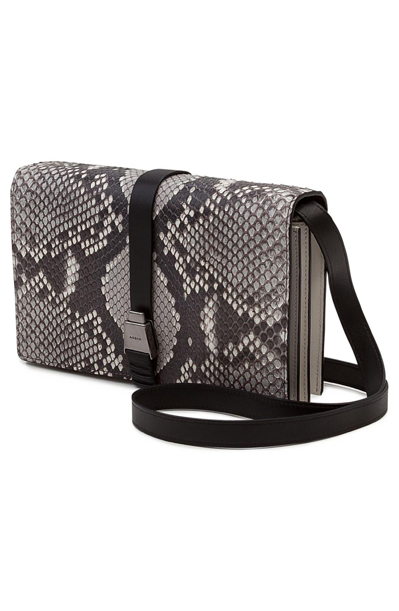 Alice Genuine Python Crossbody Bag,                             Alternate thumbnail 7, color,