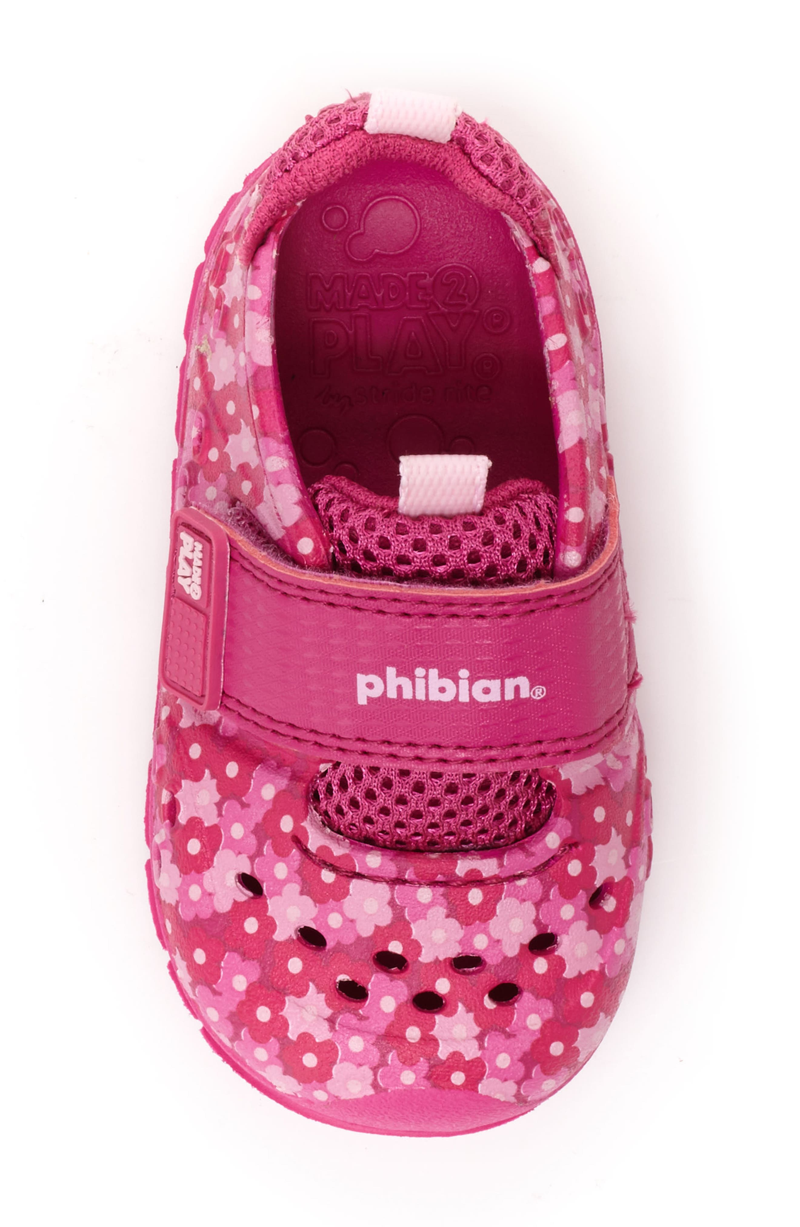 STRIDE RITE,                             Made2Play<sup>®</sup> Phibian Sneaker,                             Alternate thumbnail 5, color,                             PINK FLORAL EVA