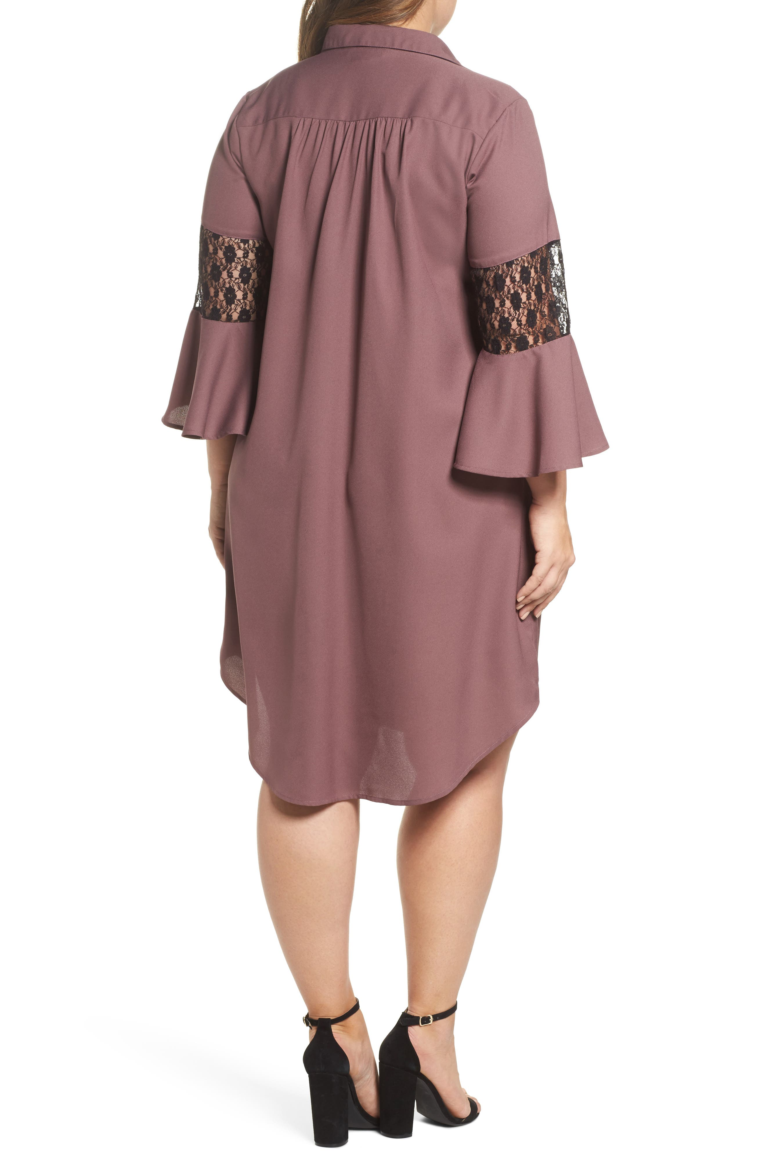 Lace Inset Shirtdress,                             Alternate thumbnail 2, color,                             501