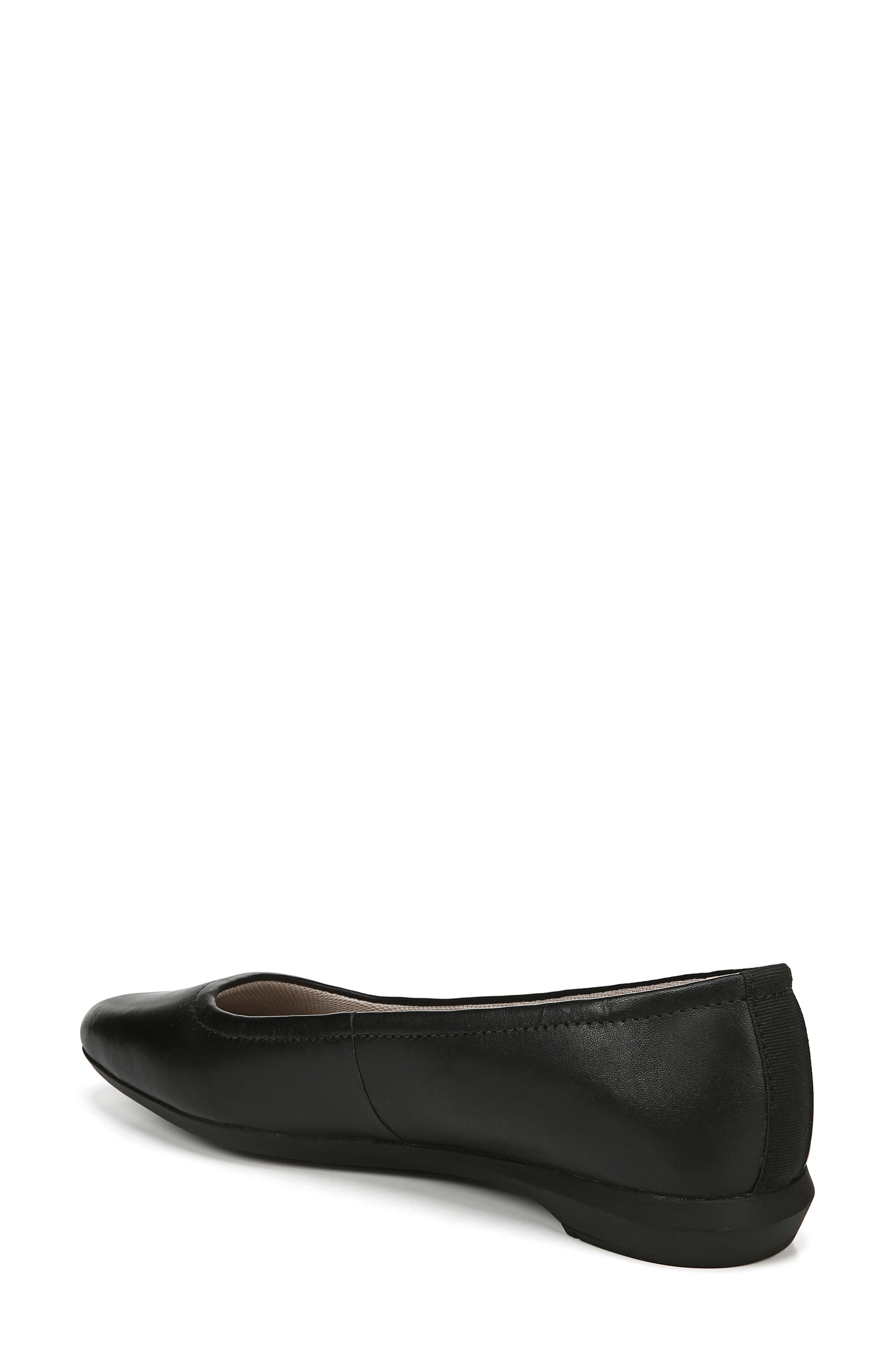 NATURALIZER,                             Alya Flat,                             Alternate thumbnail 2, color,                             BLACK LEATHER