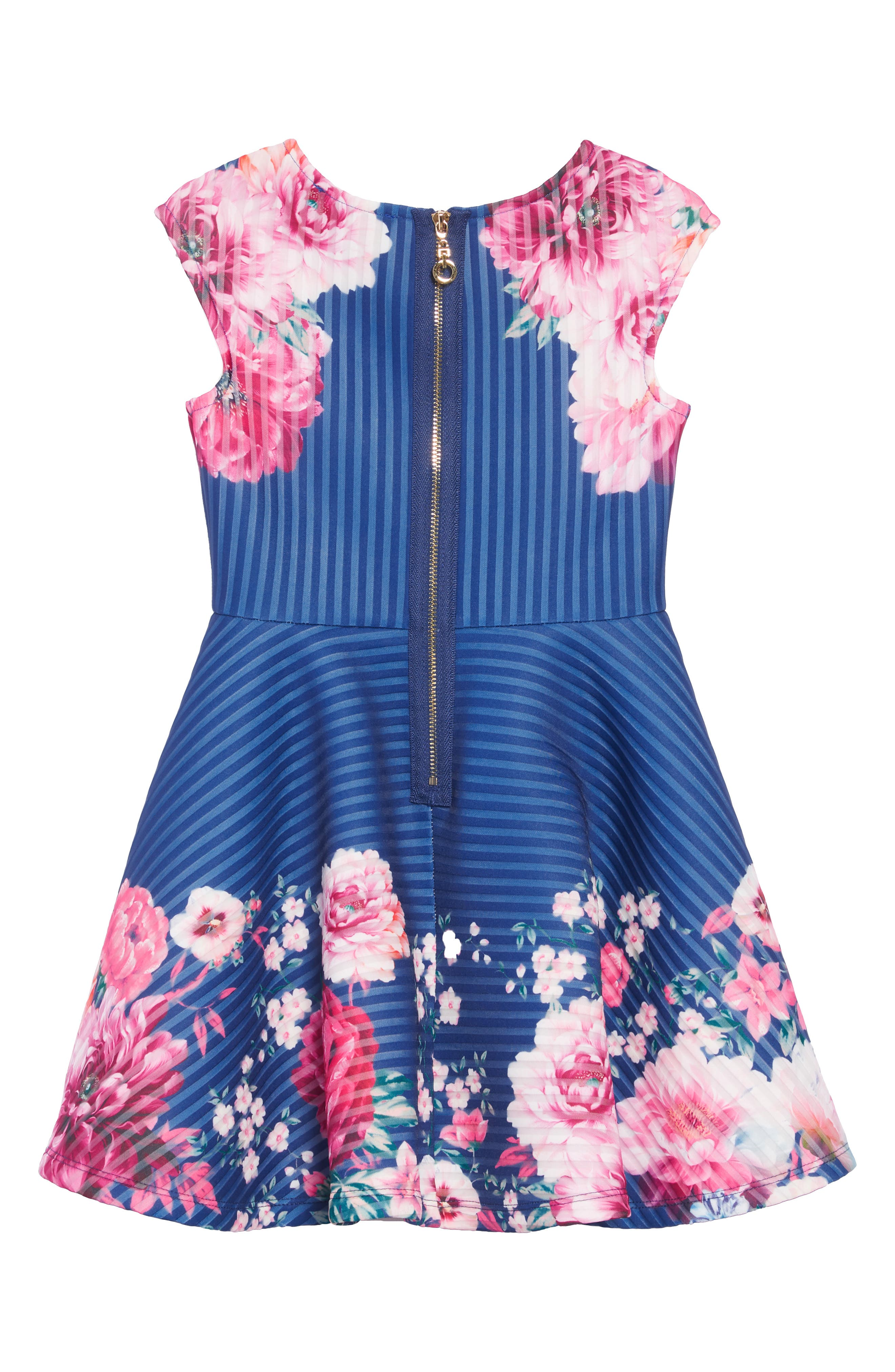 Stripe Scuba Dress,                             Alternate thumbnail 2, color,                             BLUE MULTI