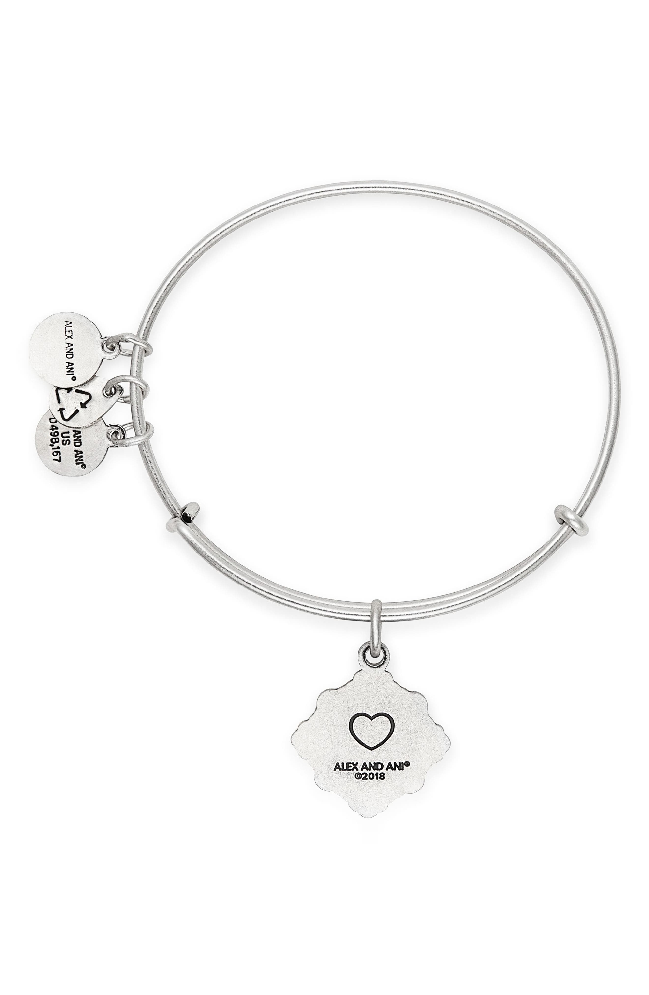 Because I Love You Goddaughter Charm Bangle,                             Alternate thumbnail 2, color,                             SILVER