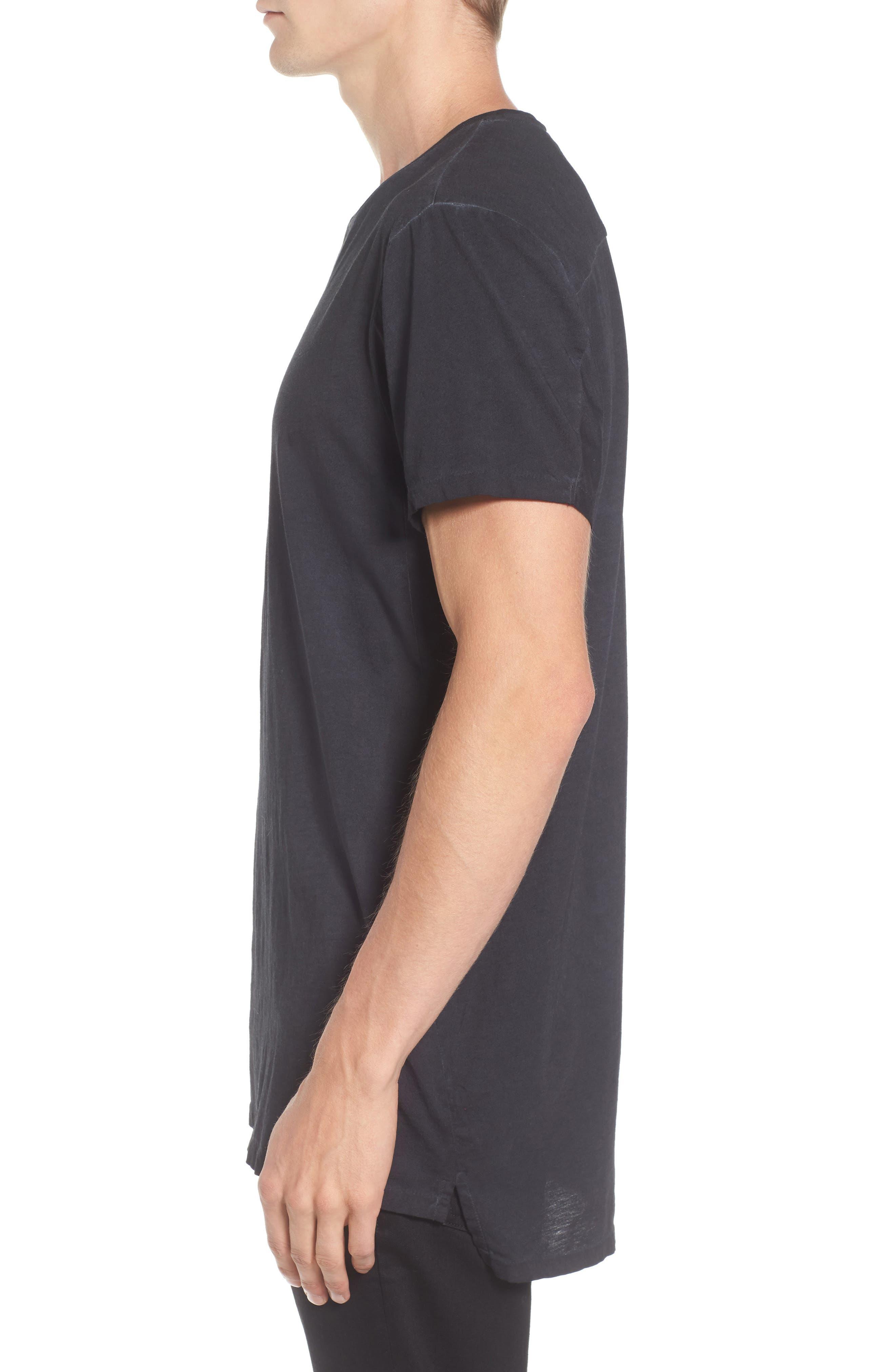 Classic Oil Wash Jersey T-Shirt,                             Alternate thumbnail 3, color,                             010