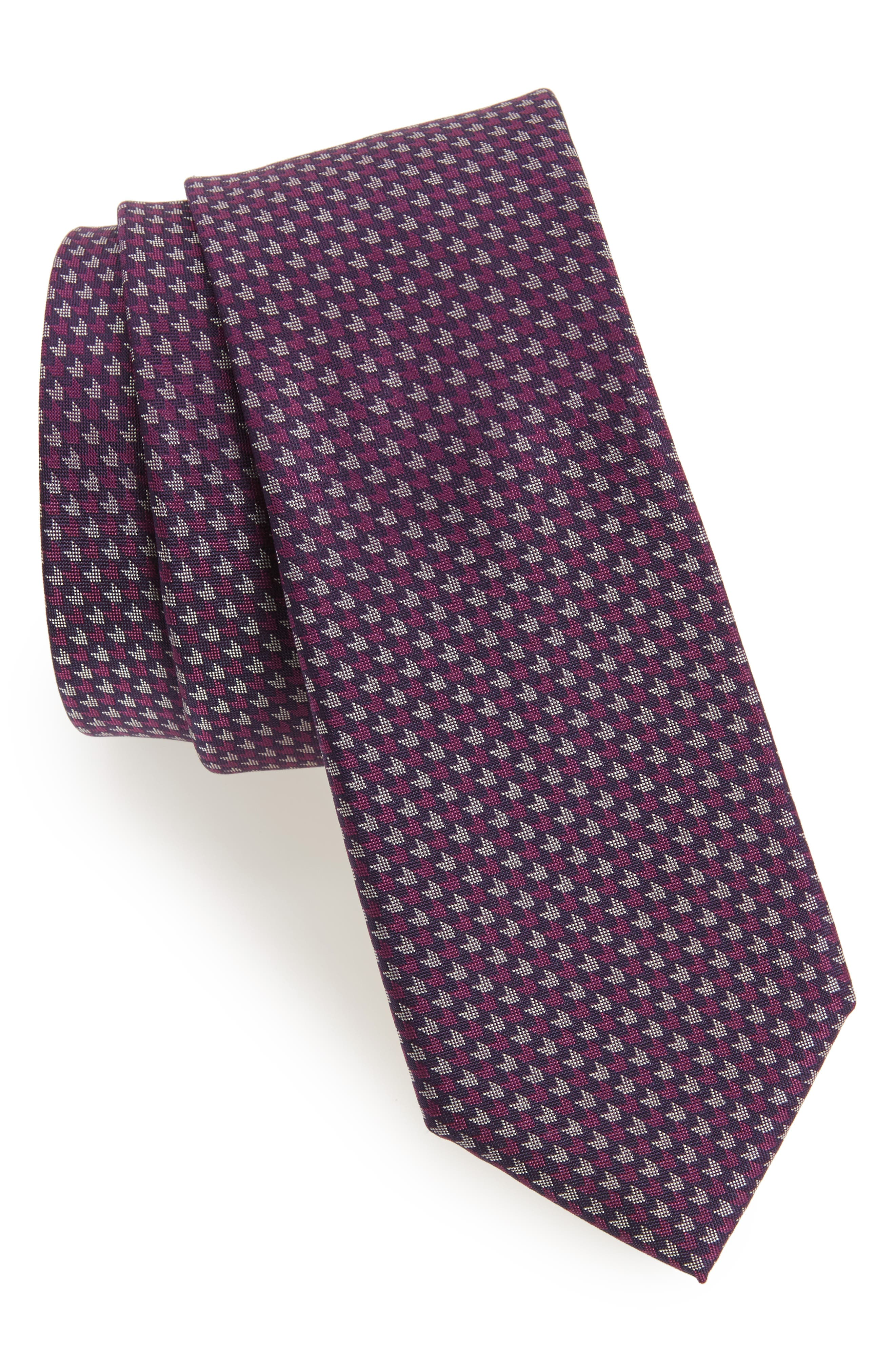 One Way Neat Silk Tie,                             Main thumbnail 2, color,