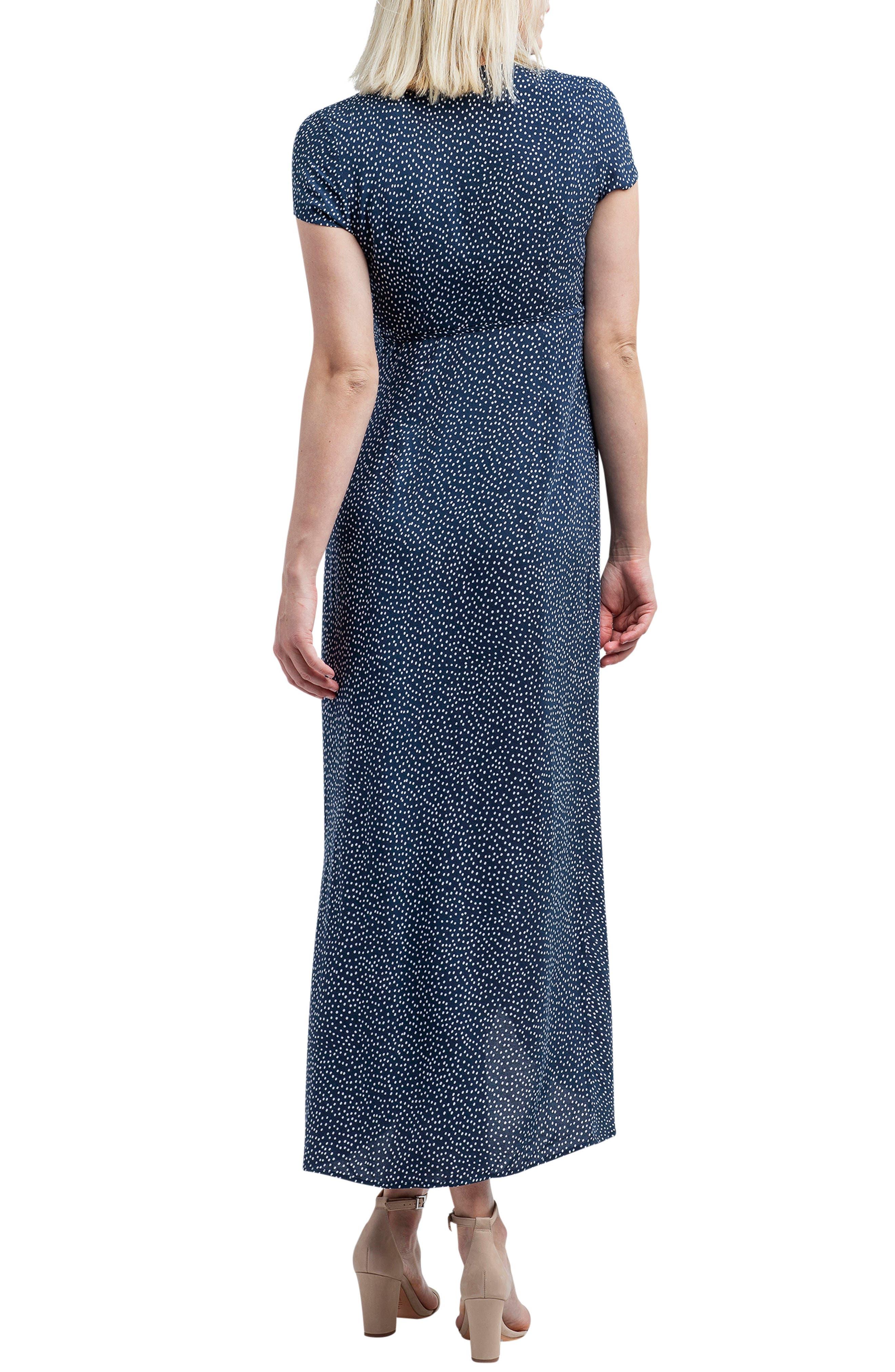 NOM MATERNITY,                             Delilah Maternity/Nursing Wrap Maxi Dress,                             Alternate thumbnail 2, color,                             400