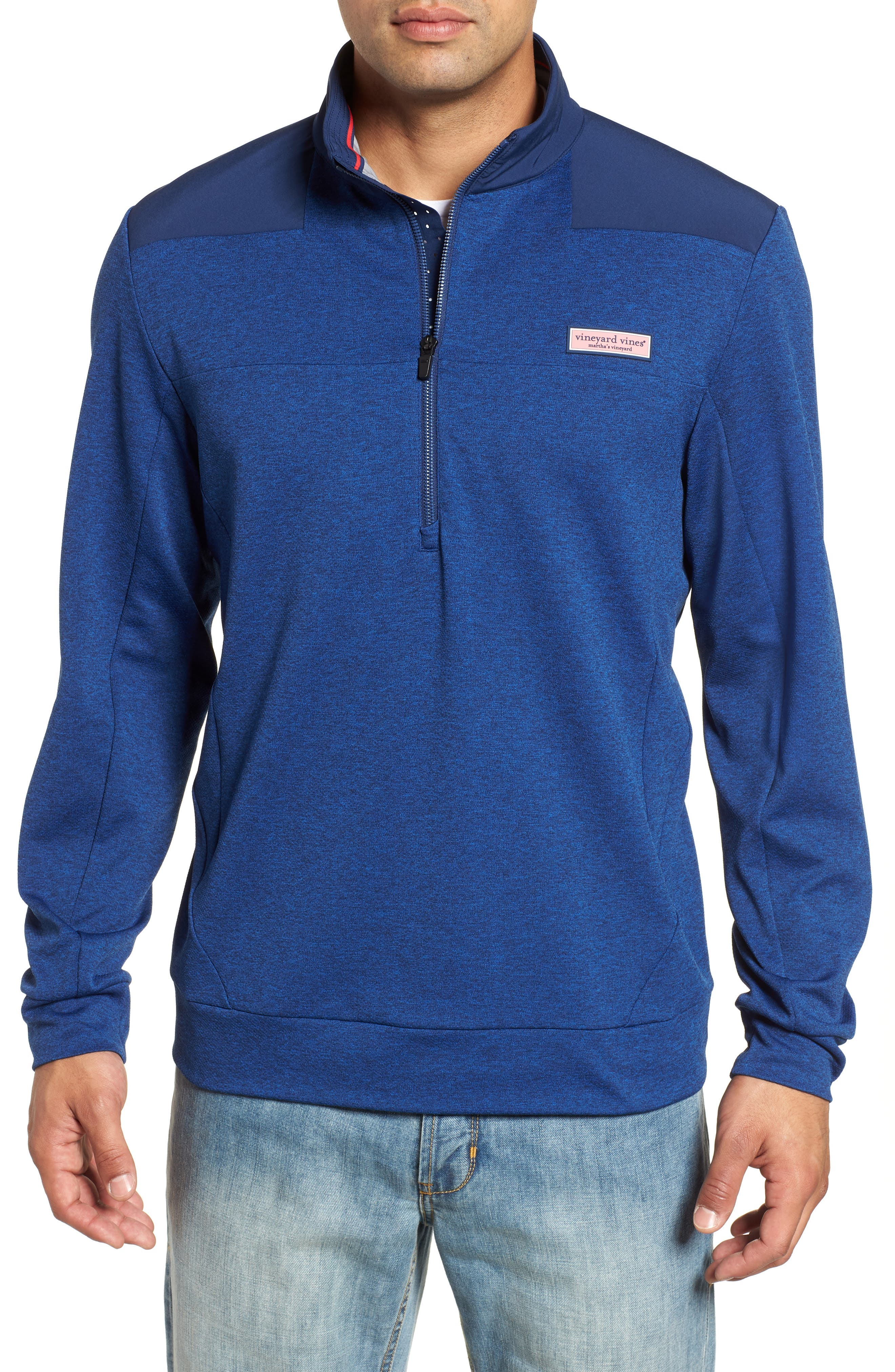 Performance Quarter Zip Pullover,                             Main thumbnail 1, color,