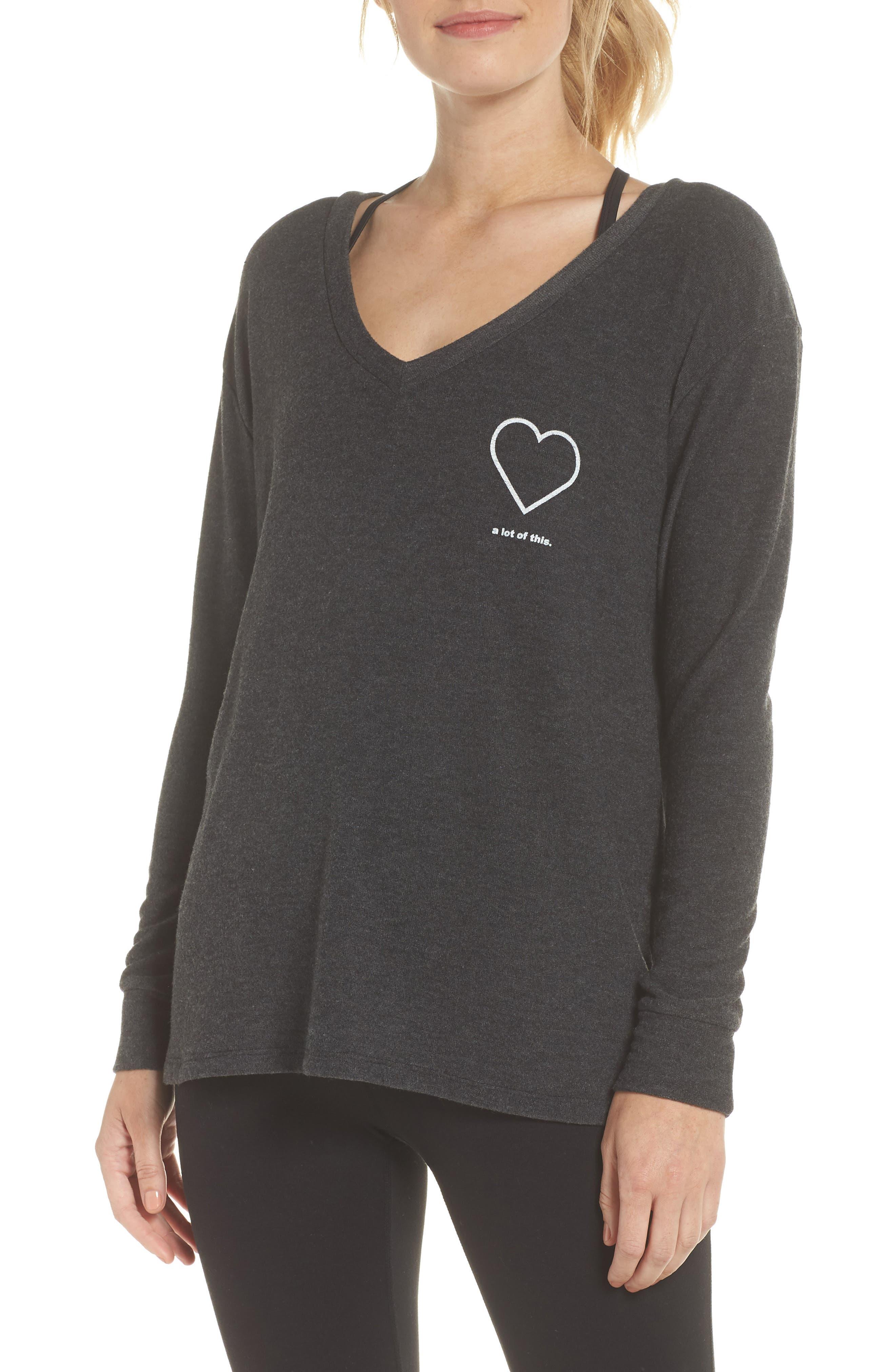 The Robin - Heart A Lot of This Sweatshirt,                             Main thumbnail 1, color,                             004