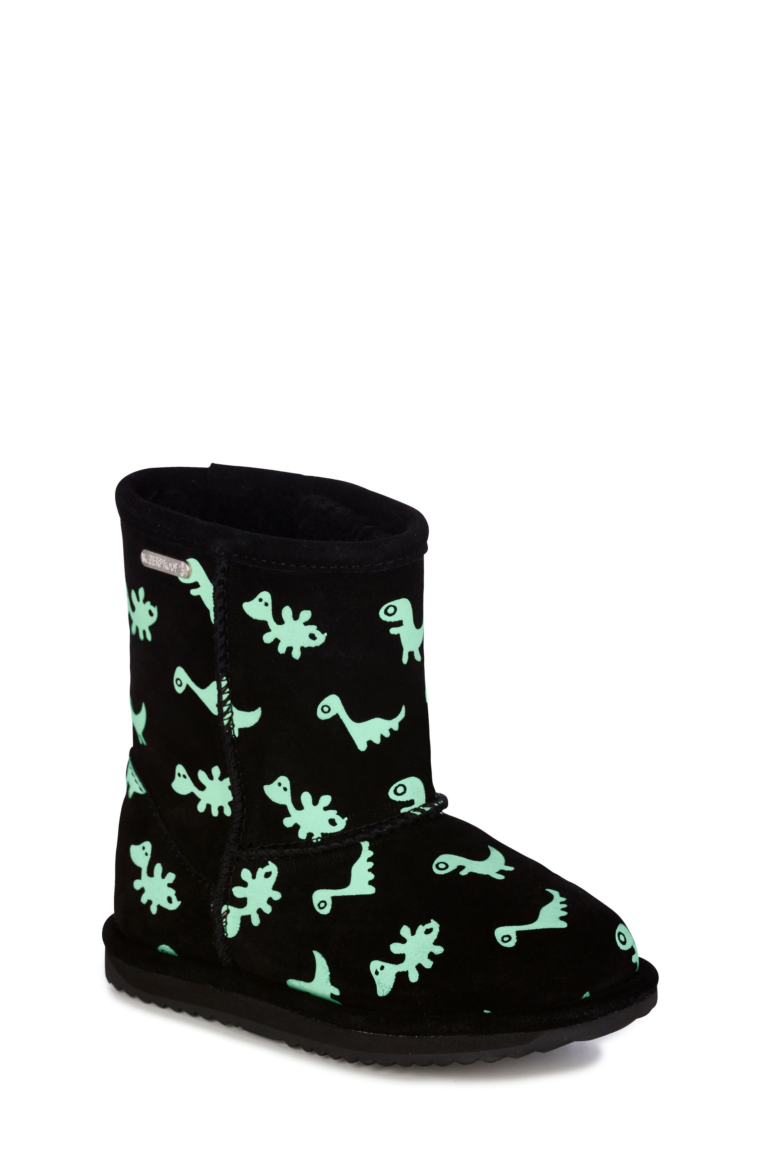 Animal Print Boots,                             Alternate thumbnail 6, color,                             BLACK