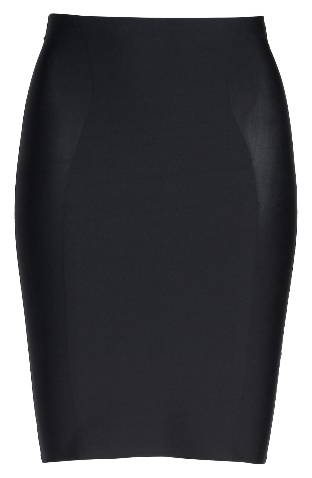 High Waist Smoother Skirt Slip,                             Alternate thumbnail 6, color,                             001