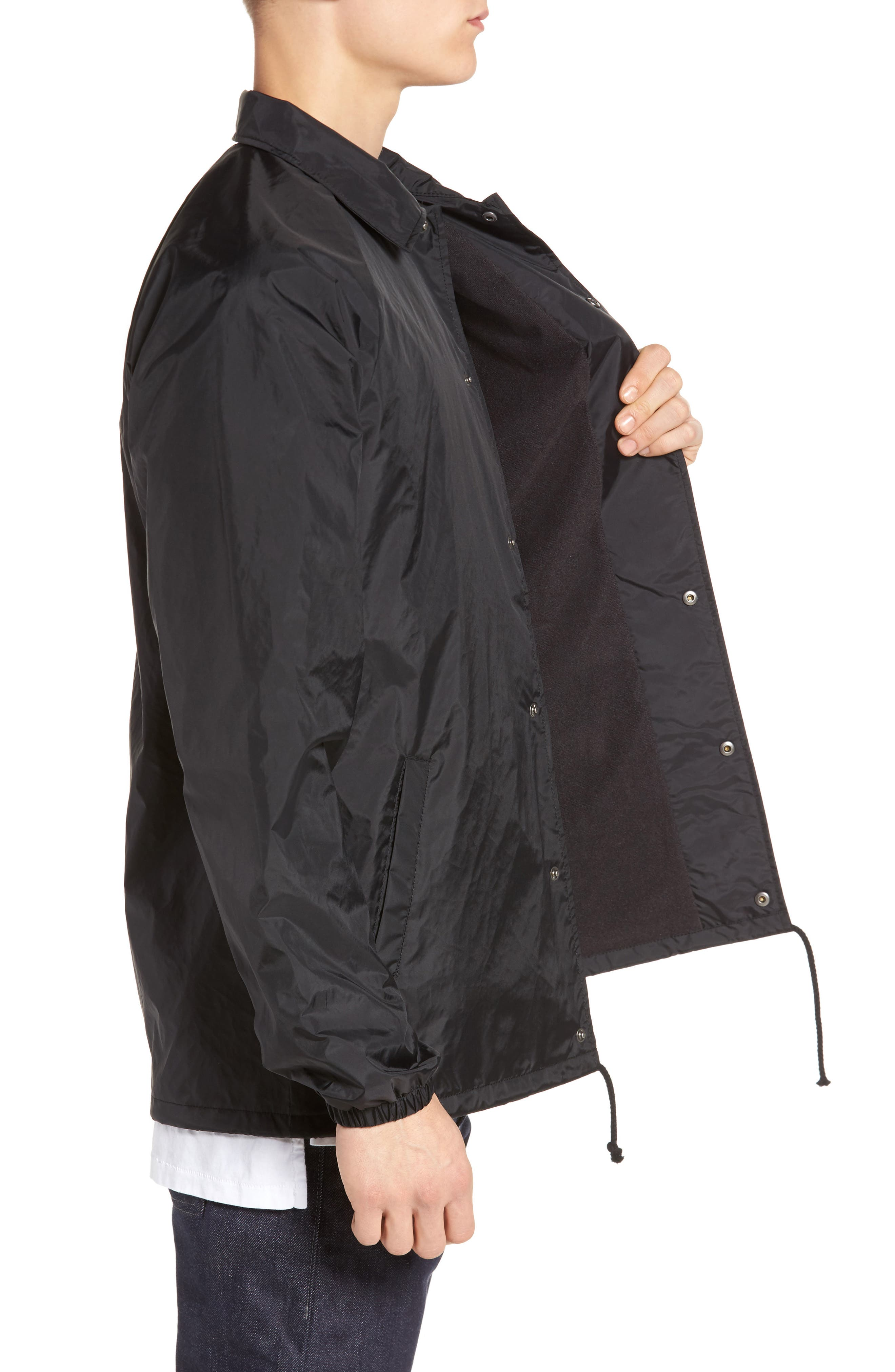Torrey Water Resistant Jacket,                             Alternate thumbnail 3, color,                             BLACK/ WHITE