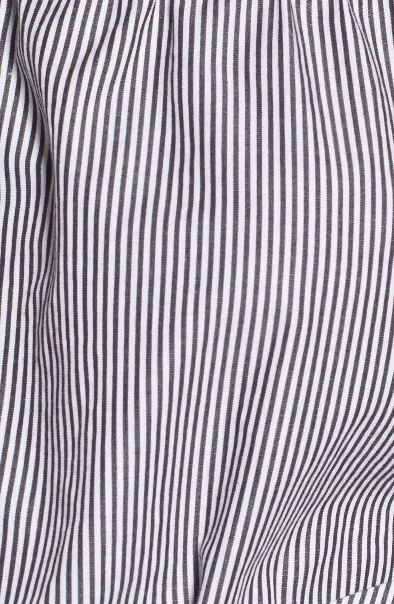BP Tie Detail Off the Shoulder Top,                             Alternate thumbnail 5, color,                             001