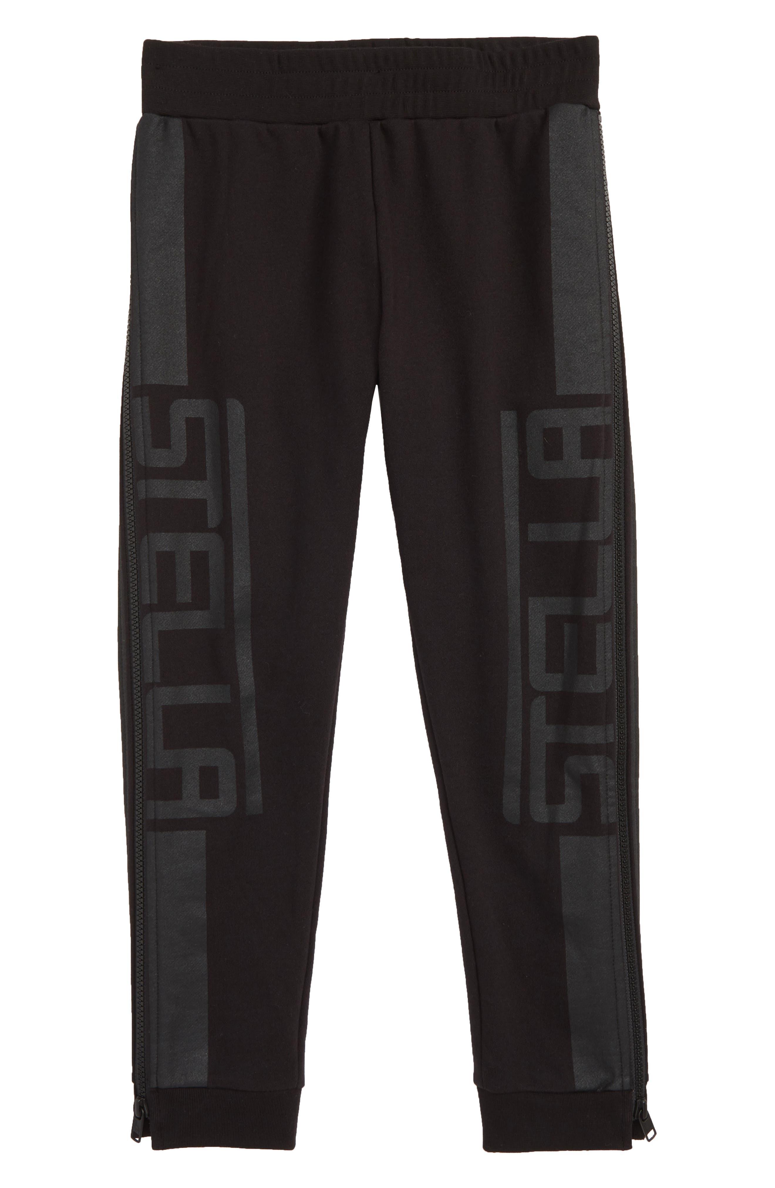 Stella McCartney Logo Sweatpants,                             Main thumbnail 1, color,                             BLACK