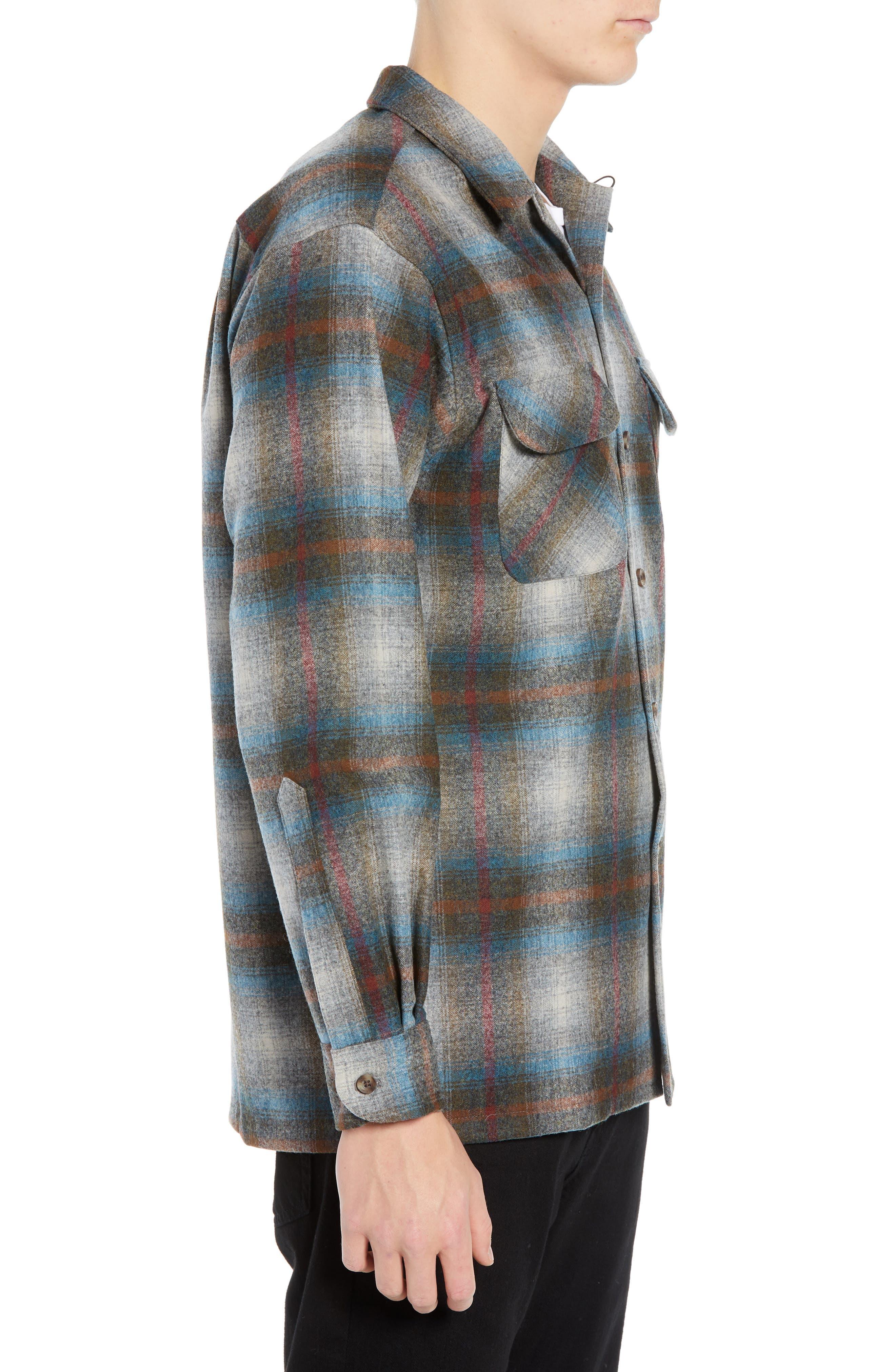 Board Wool Flannel Shirt,                             Alternate thumbnail 4, color,                             MULTI PLAID