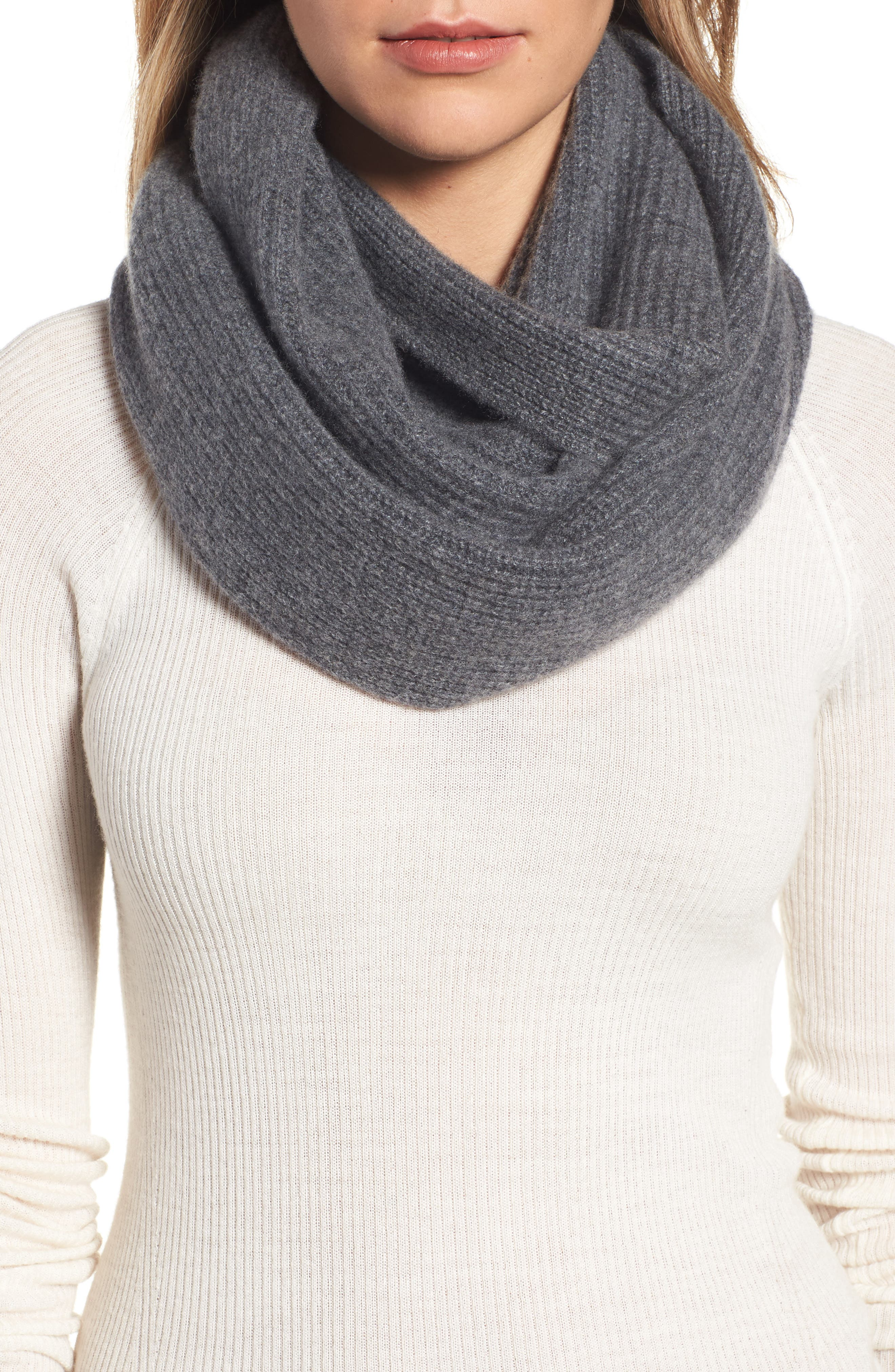 Cashmere Infinity Scarf,                             Main thumbnail 3, color,