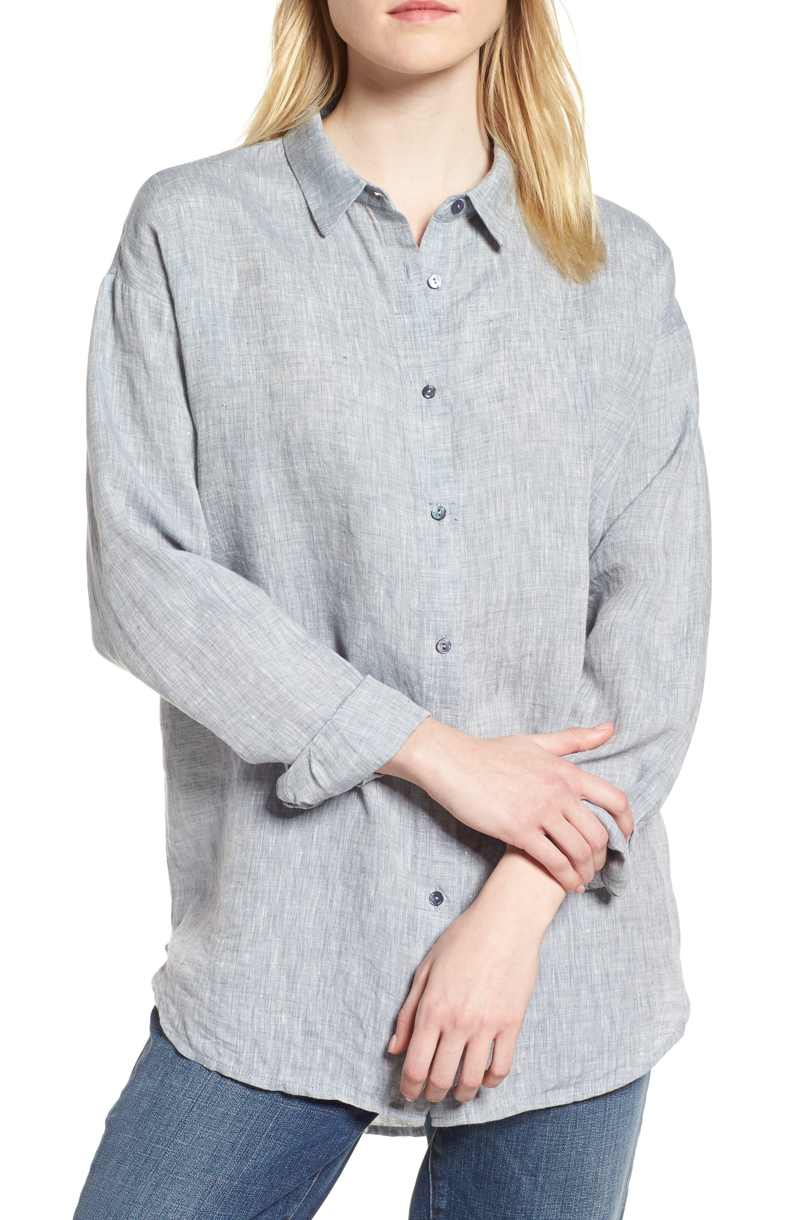 Organic Linen Shirt,                             Main thumbnail 2, color,