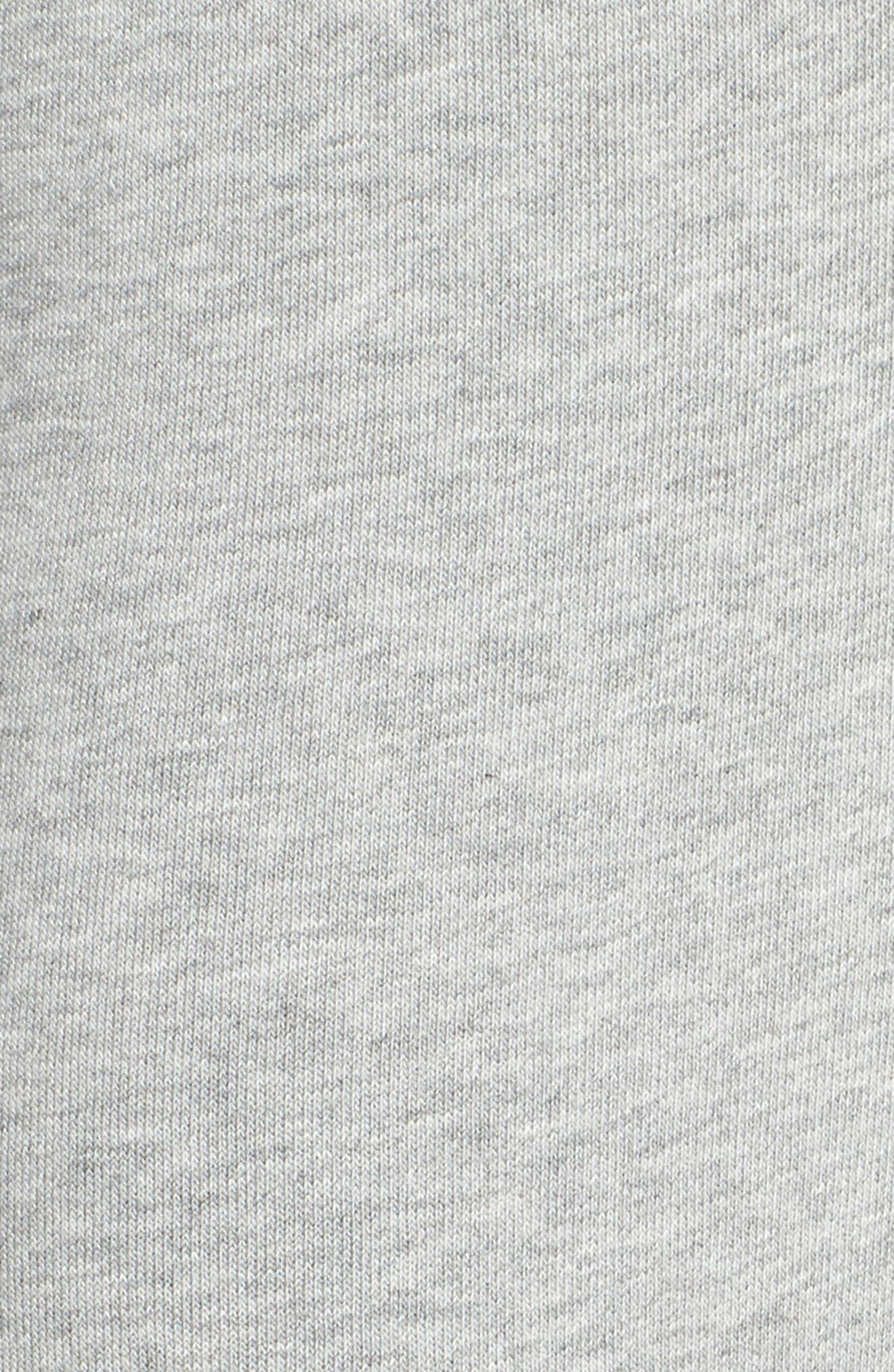 Tapered Training Pants,                             Alternate thumbnail 6, color,                             DARK GREY HEATHER/ BLACK