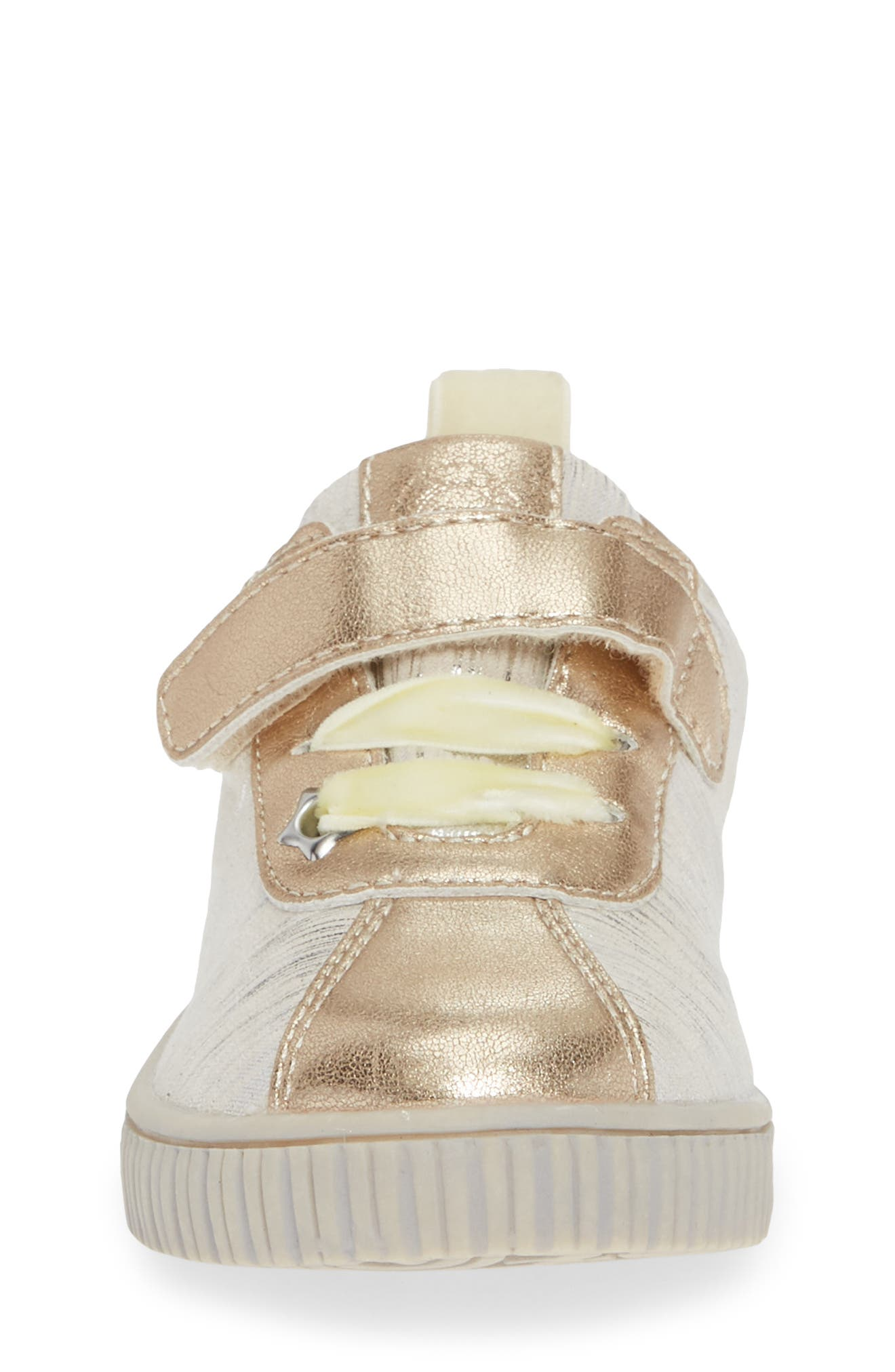Spin Metallic Sneaker,                             Alternate thumbnail 4, color,                             CREAM TINSEL