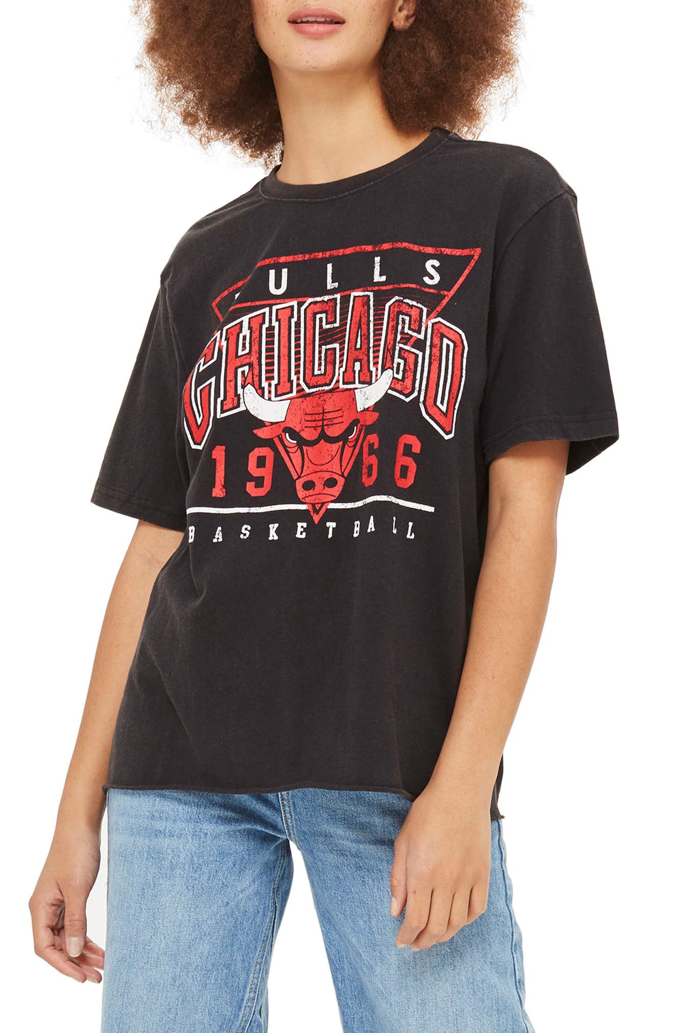 x UNK Chicago Bulls Graphic Tee,                             Main thumbnail 1, color,                             002
