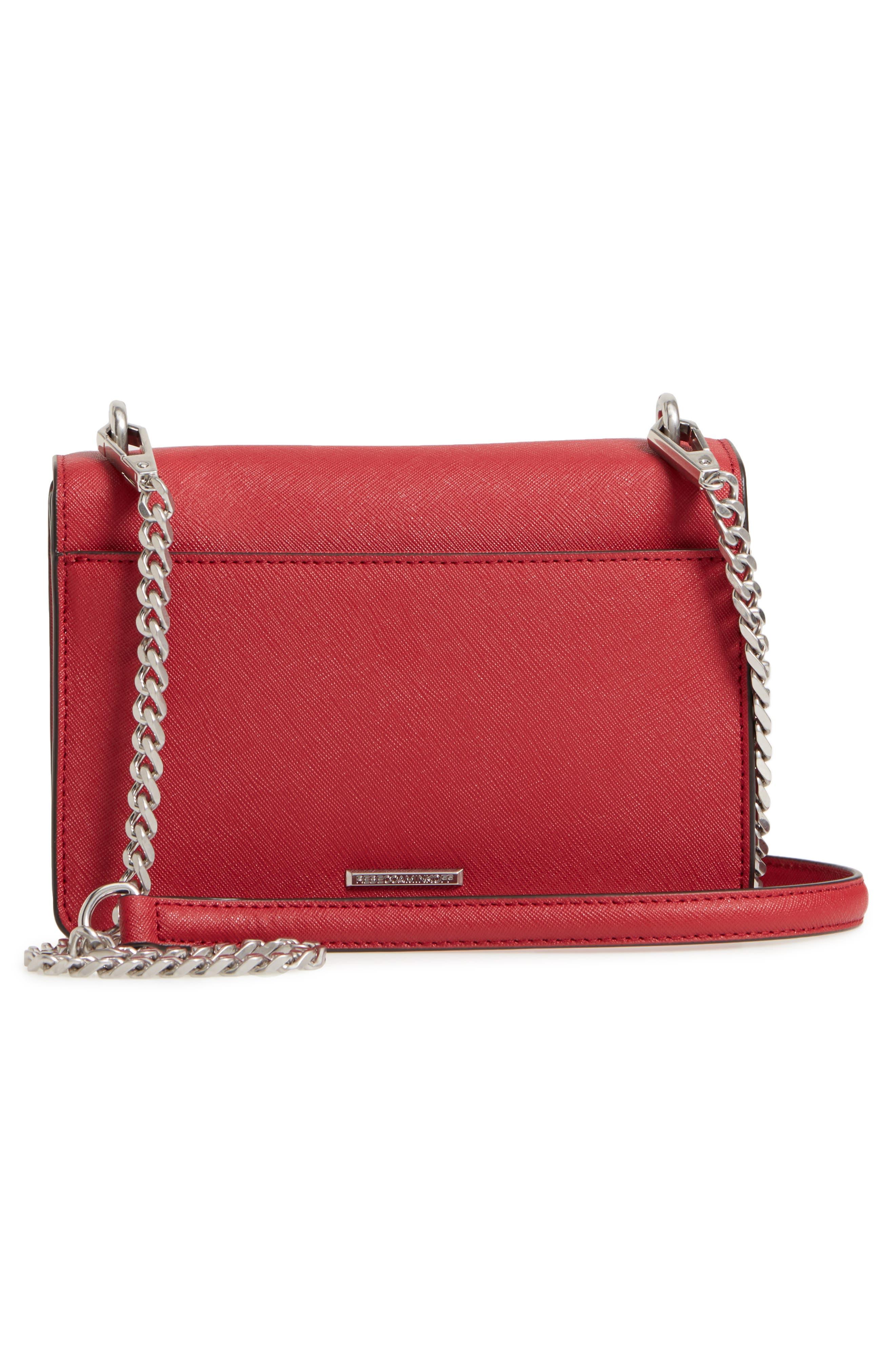 Medium Christy Leather Shoulder Bag,                             Alternate thumbnail 14, color,