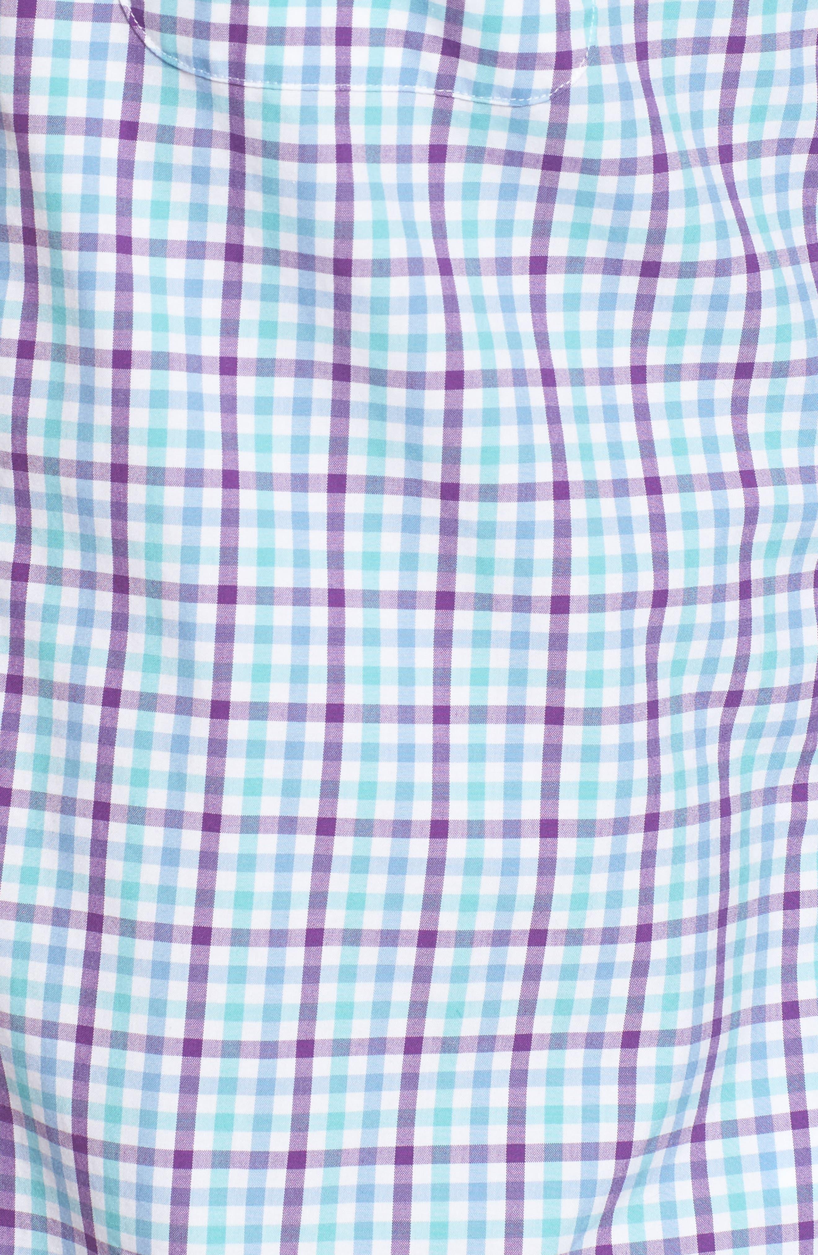 Tucker Classic Fit Gingham Sport Shirt,                             Alternate thumbnail 5, color,                             517