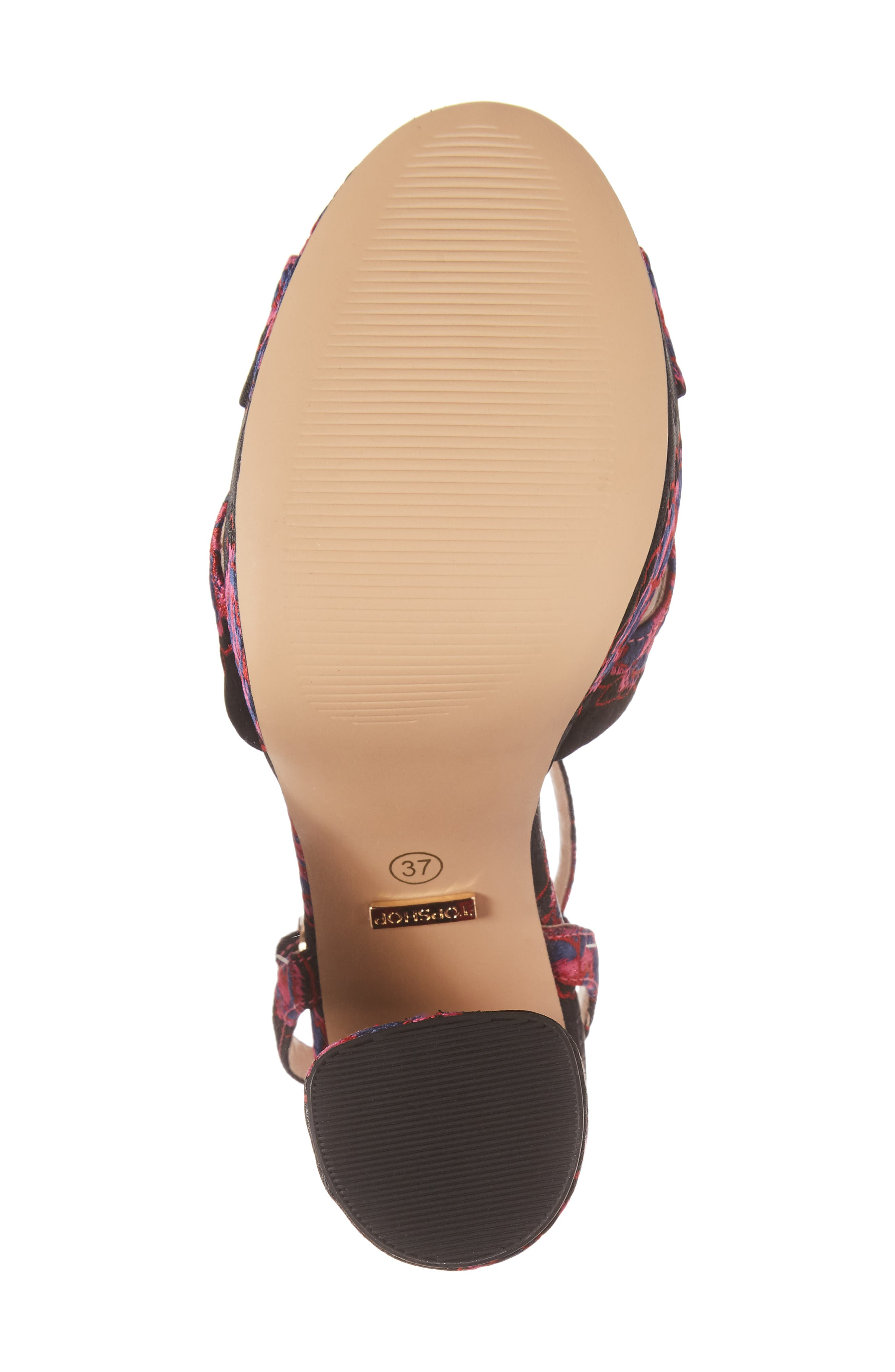 Lollie Embroidered Sandals,                             Alternate thumbnail 6, color,                             001