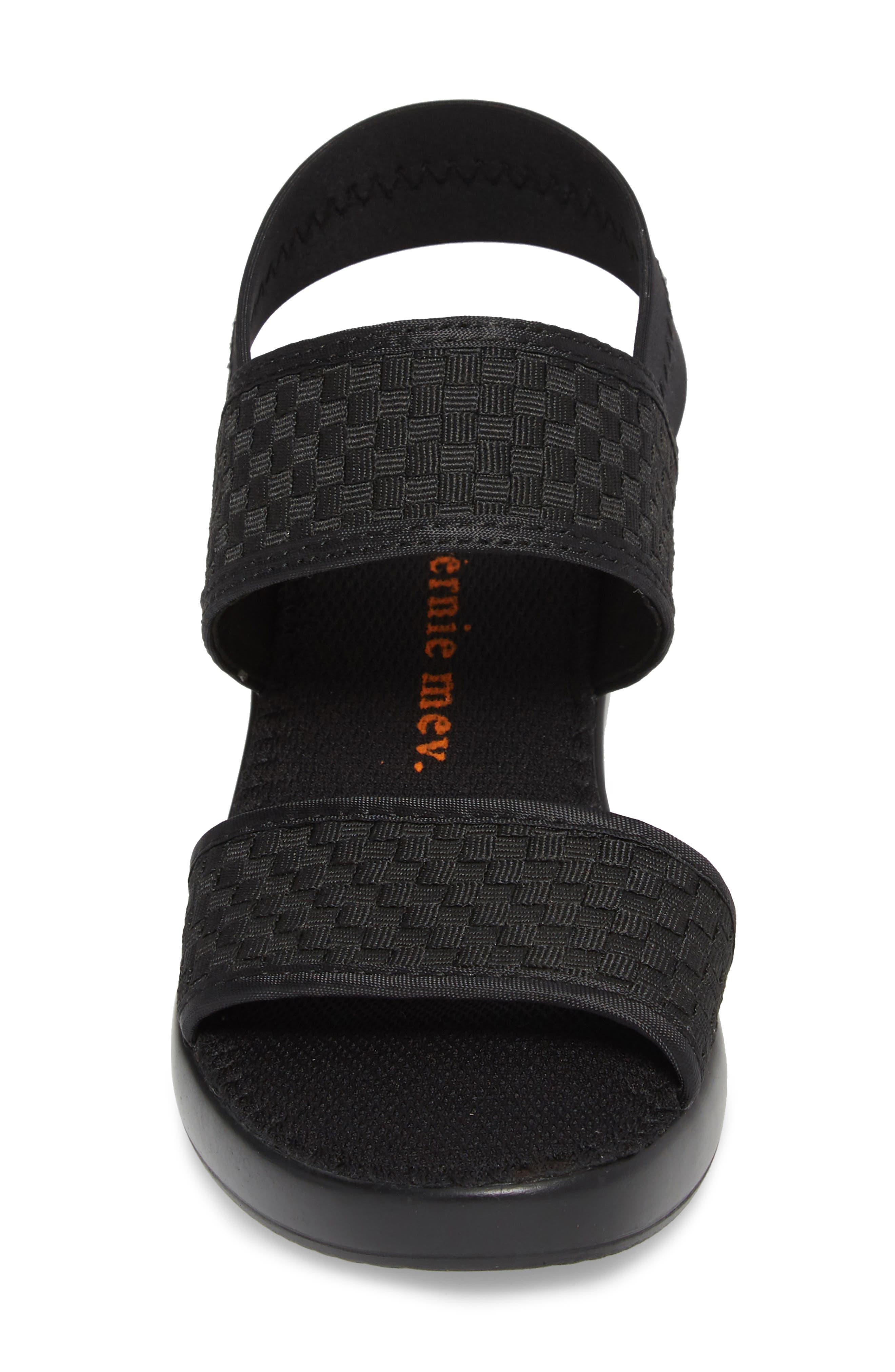 Santorini Sandal,                             Alternate thumbnail 4, color,                             BLACK FABRIC