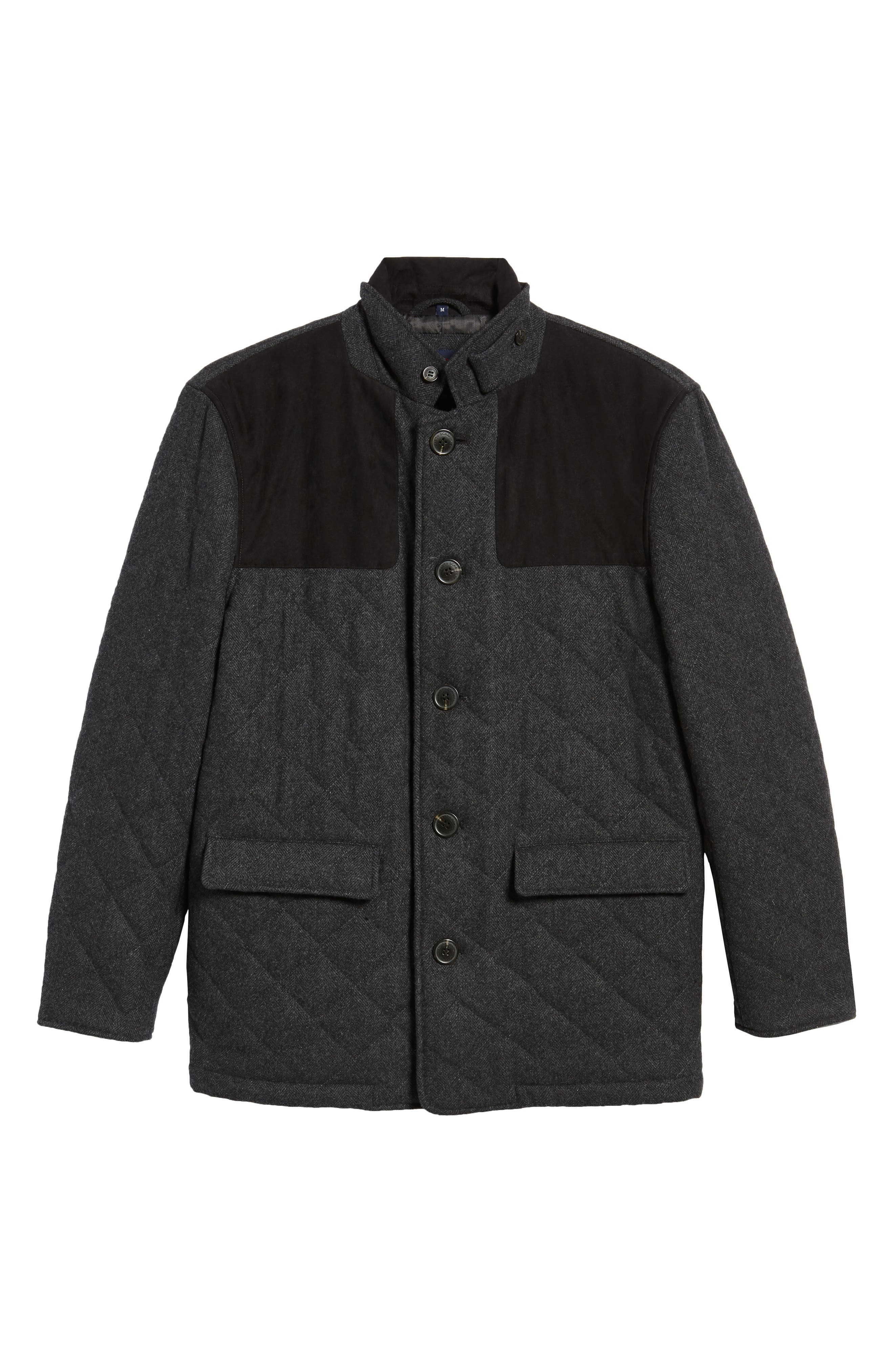 'Shooter' Wool Blend Quilted Jacket,                             Alternate thumbnail 5, color,                             024