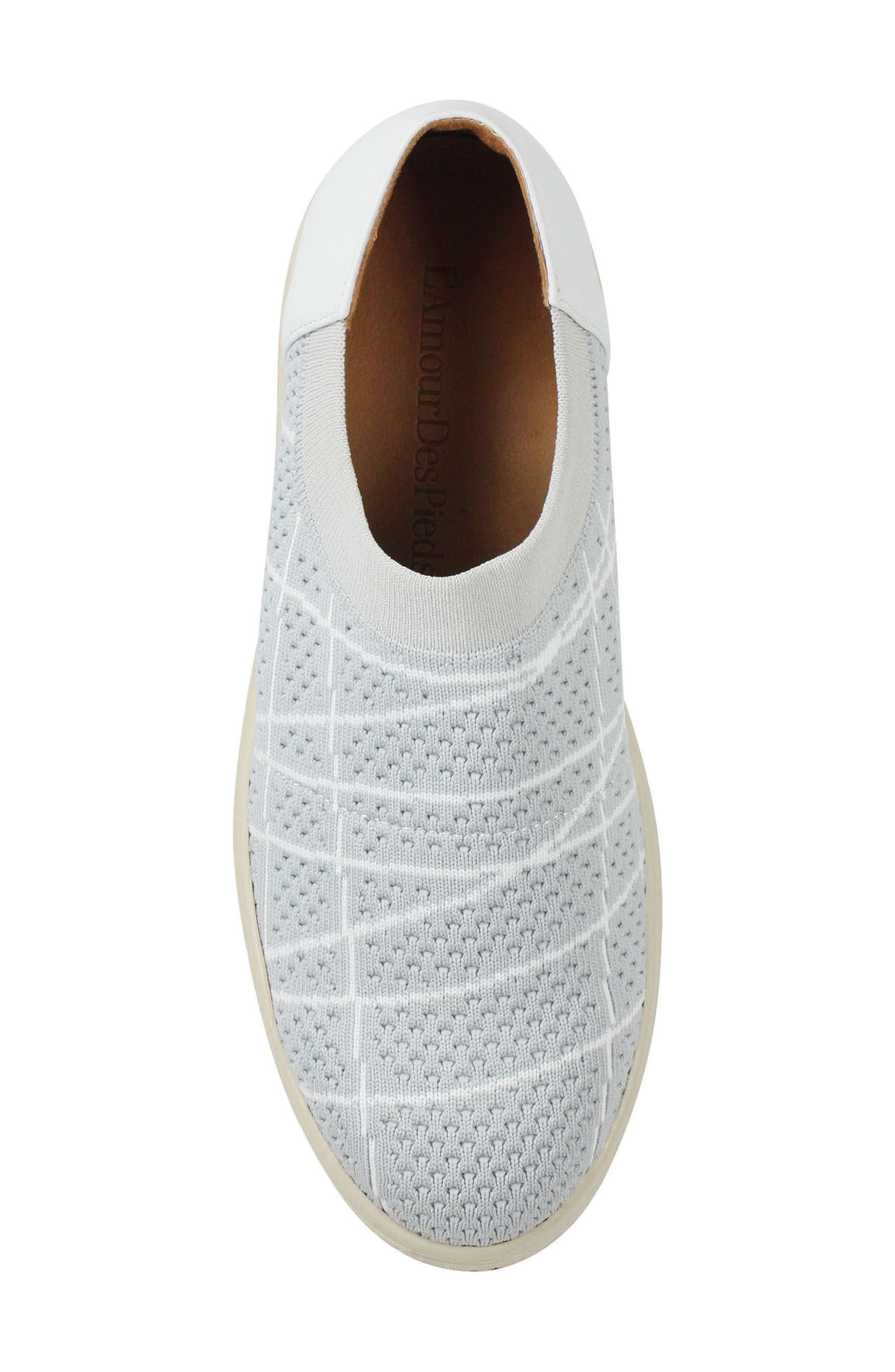 Zohndra Slip-On Sneaker,                             Alternate thumbnail 5, color,                             BEIGE FABRIC