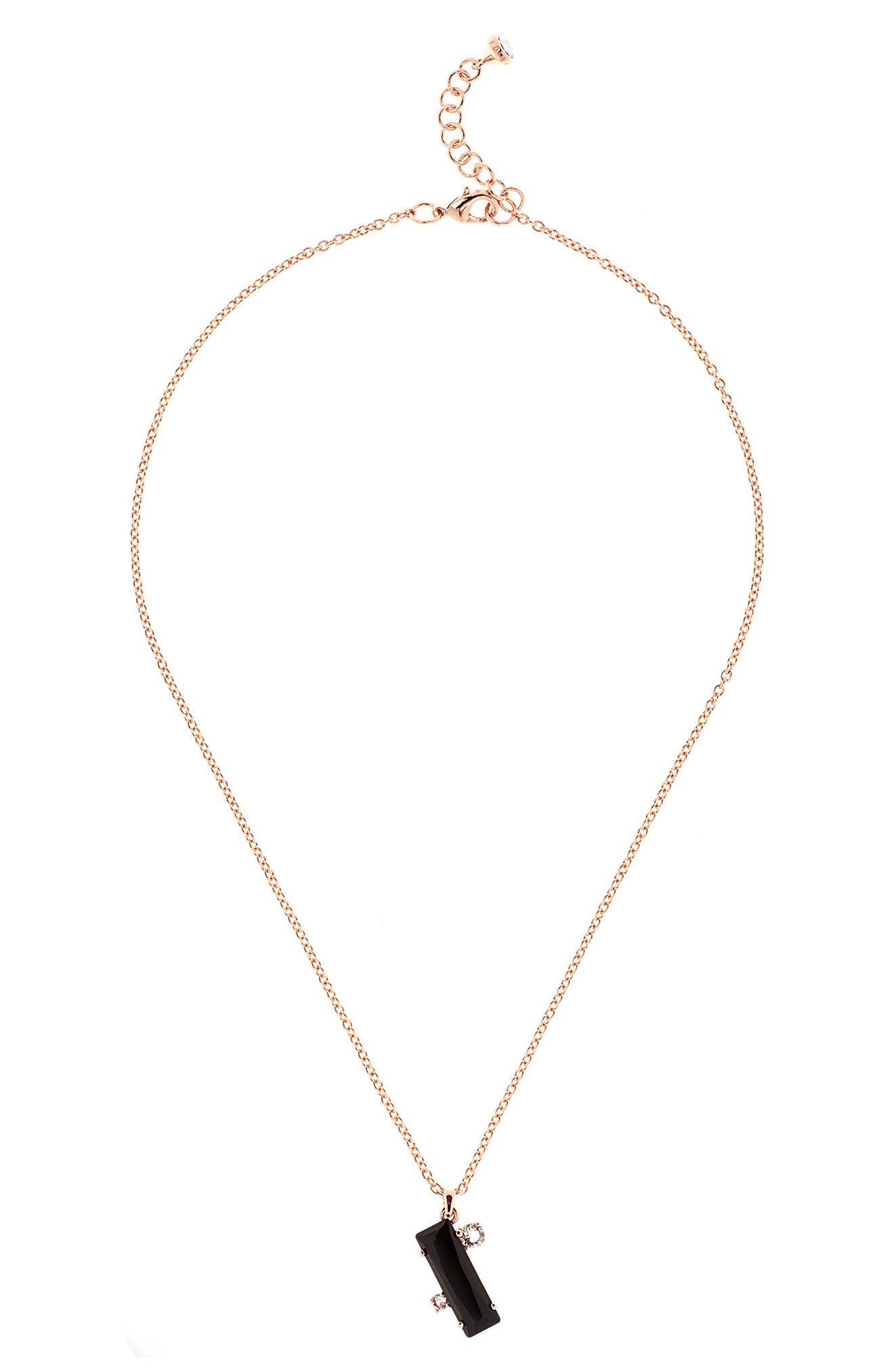 Blaeke Baguette Pendant Necklace,                             Main thumbnail 1, color,                             002