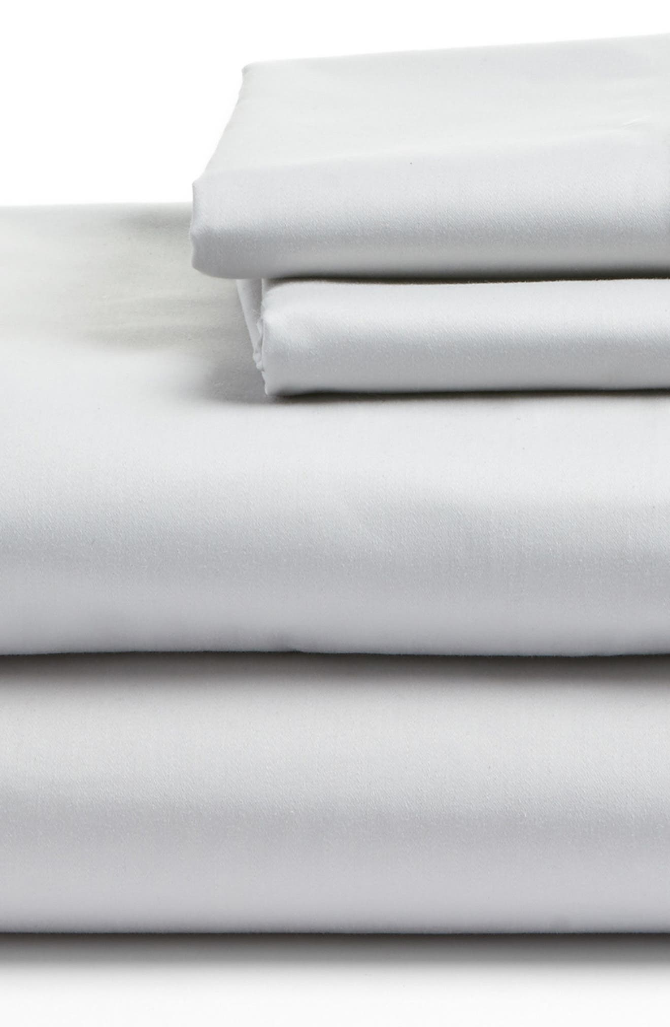 400 Thread Count Organic Cotton Sateen Sheet Set,                             Alternate thumbnail 24, color,