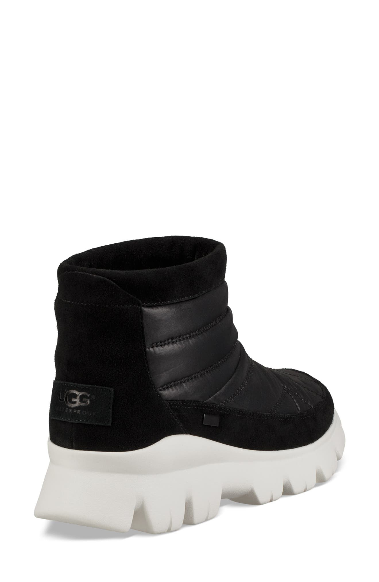 Centara Water Resistant Quilted Bootie,                             Alternate thumbnail 2, color,                             BLACK