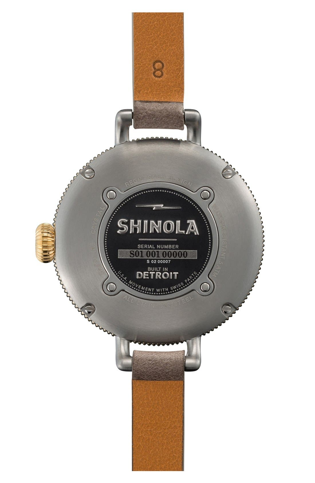 'The Birdy' Double Wrap Leather Strap Watch, 34mm,                             Alternate thumbnail 19, color,