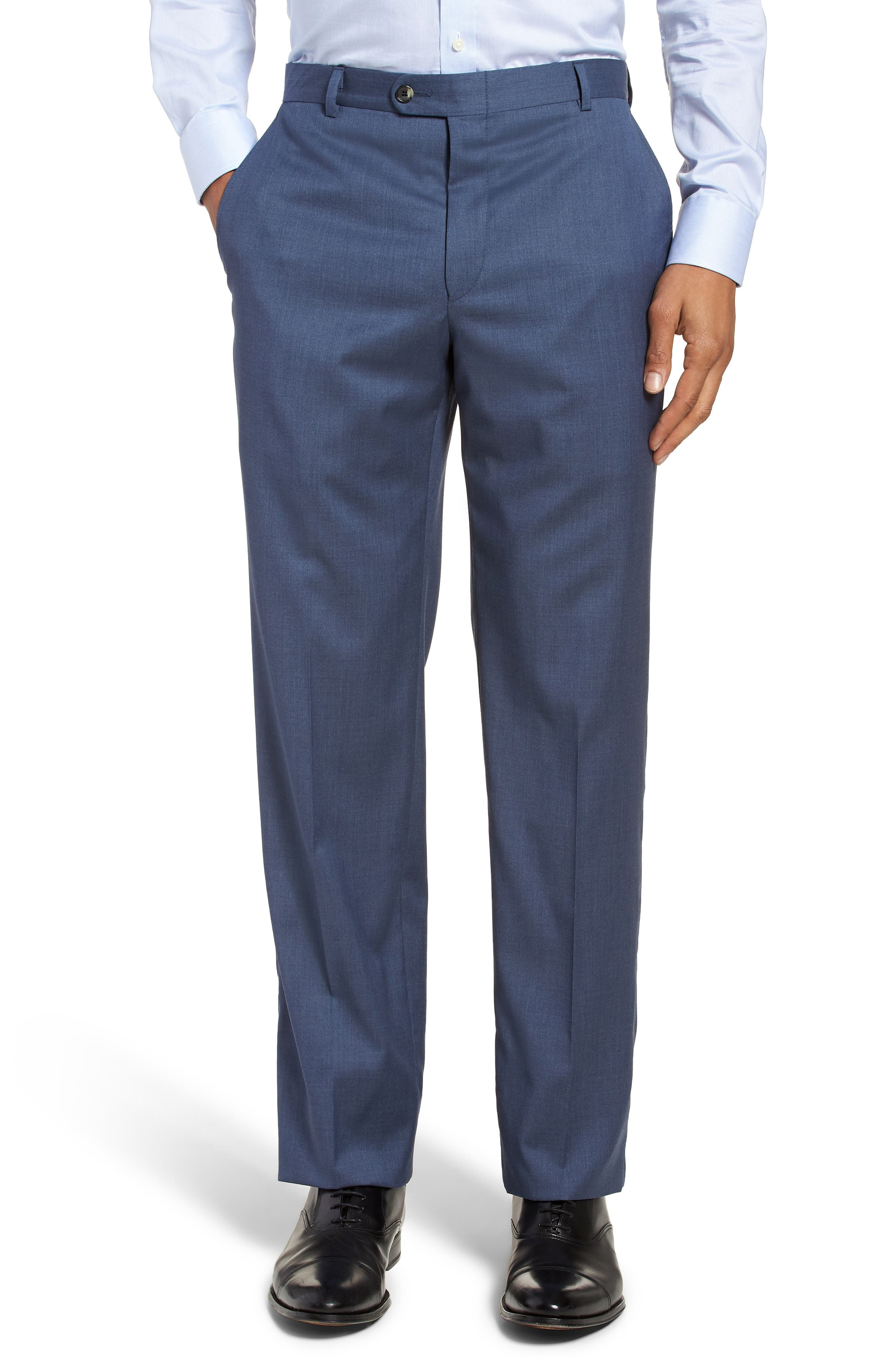 Classic B Fit Solid Wool Suit,                             Alternate thumbnail 6, color,                             499