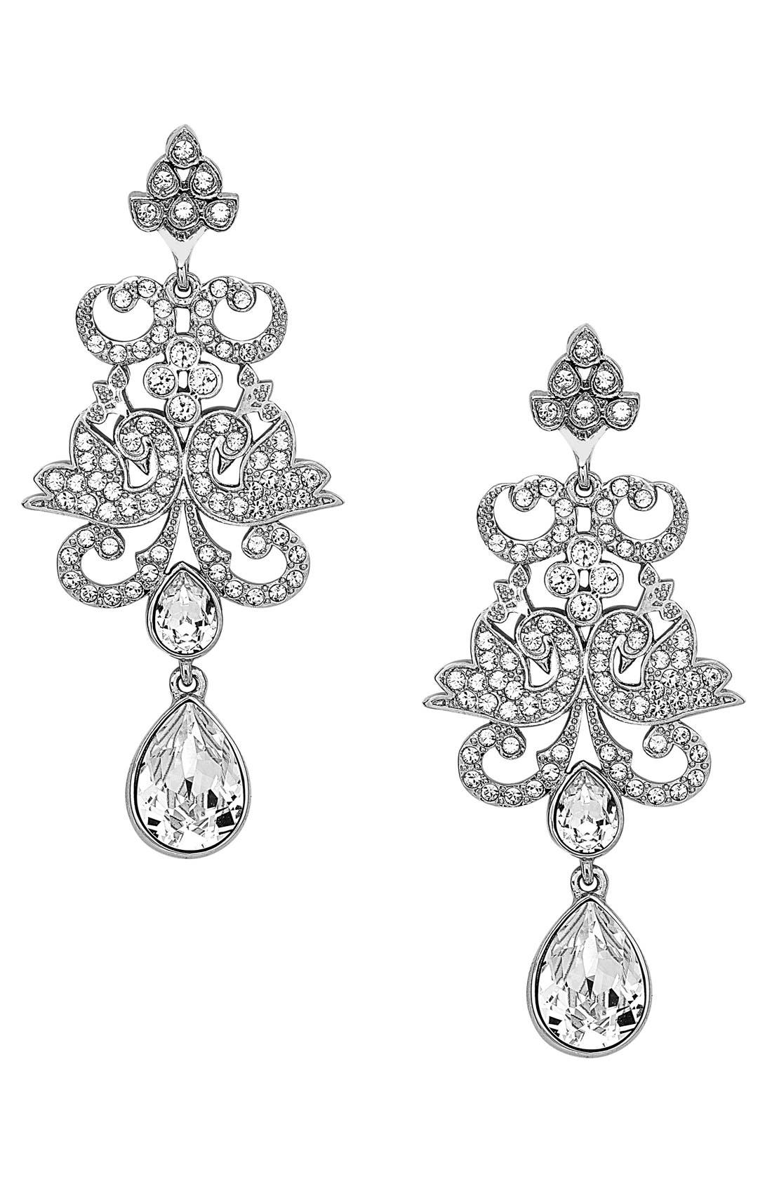 Crystal Chandelier Earrings,                             Main thumbnail 1, color,