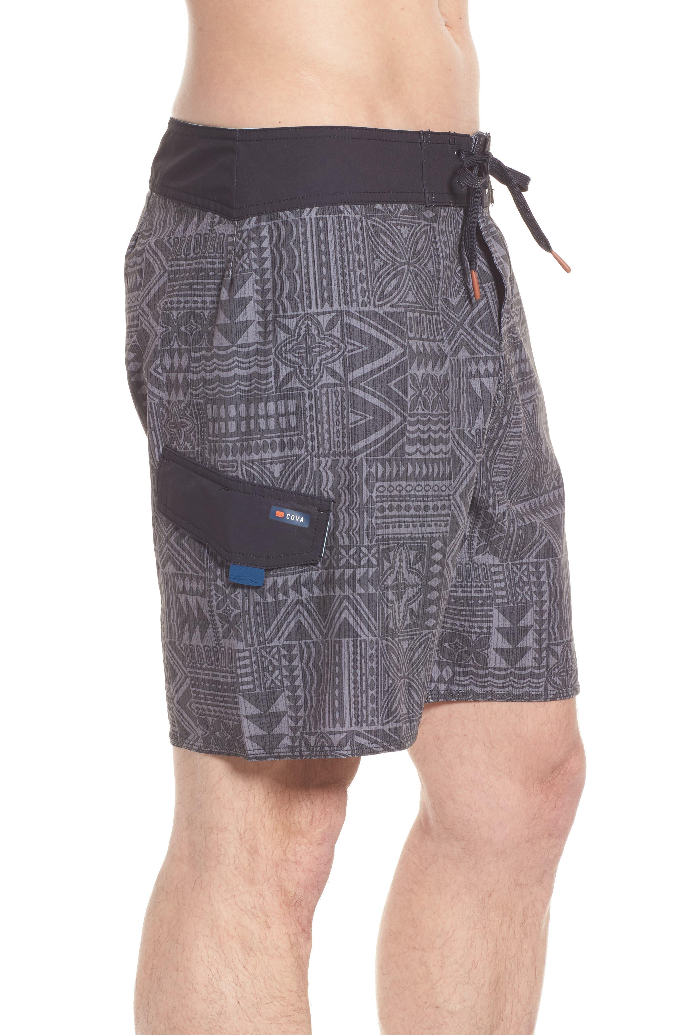 Diamond Head Board Shorts,                             Alternate thumbnail 4, color,                             CHARCOAL