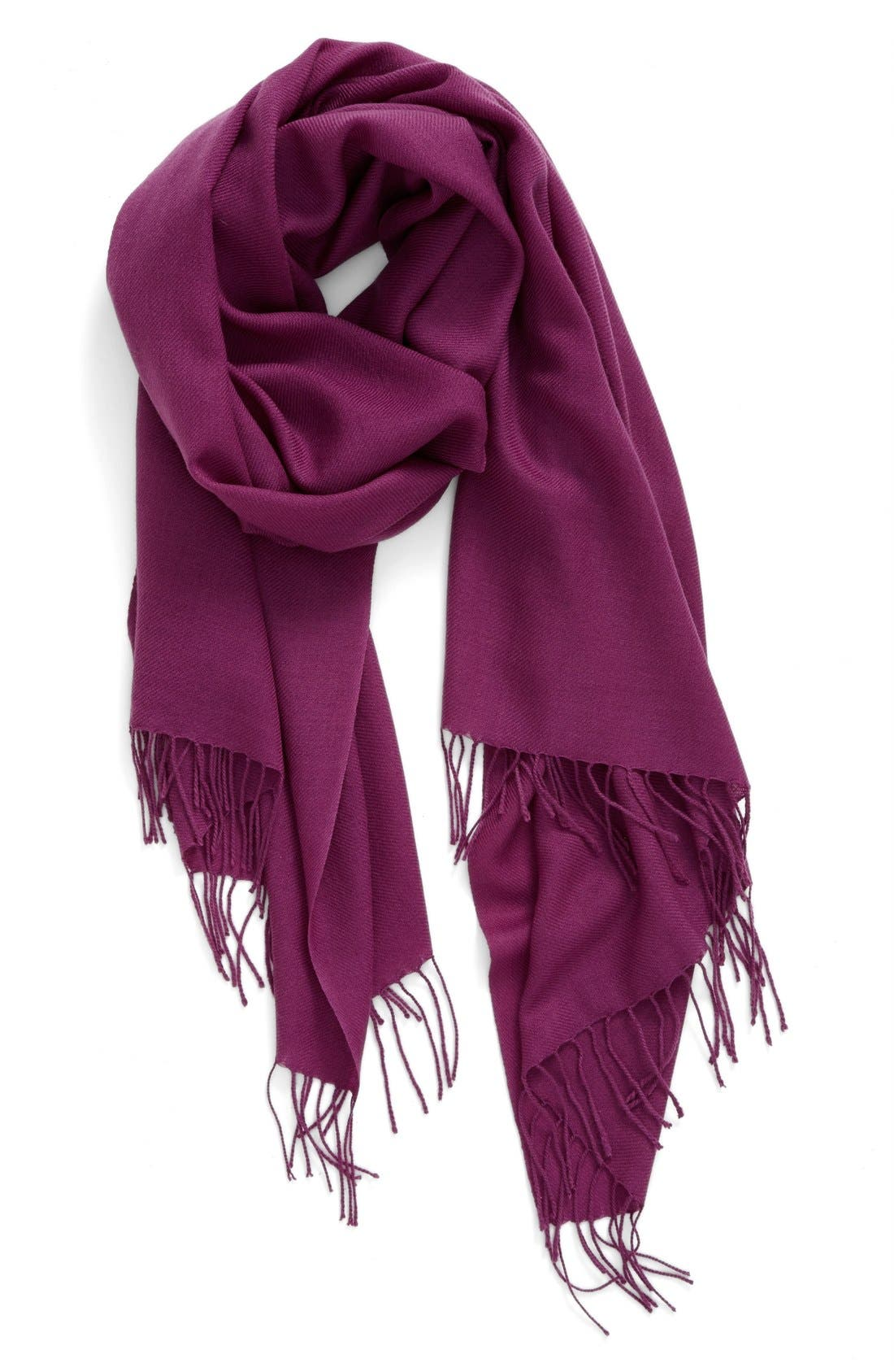Tissue Weight Wool & Cashmere Scarf,                             Main thumbnail 42, color,