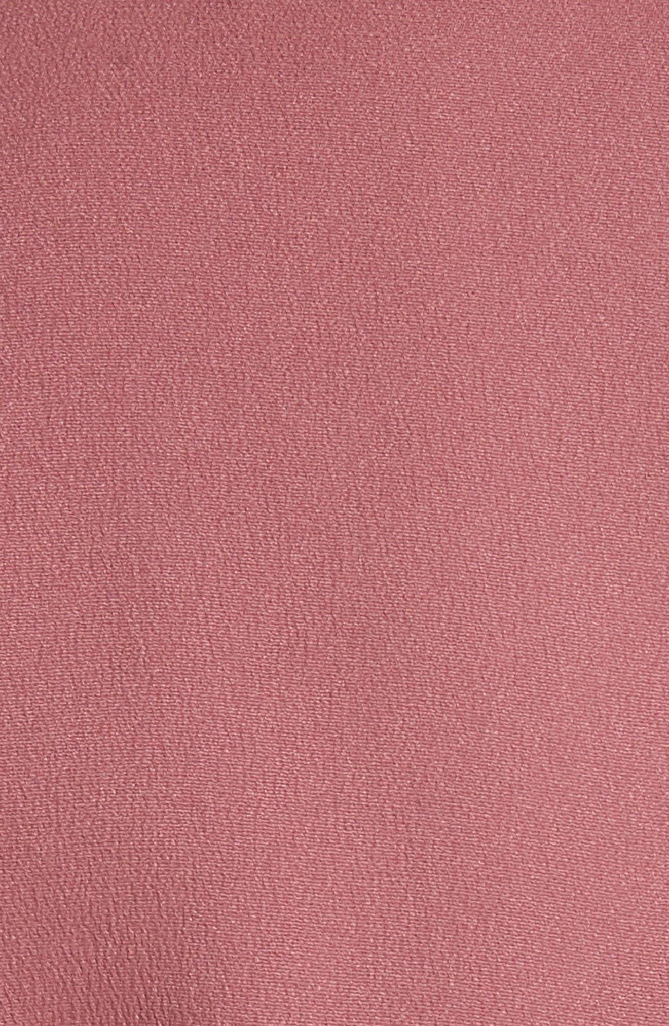 Asymmetrical Fold Bodice Dress,                             Alternate thumbnail 6, color,                             DARK SALMON
