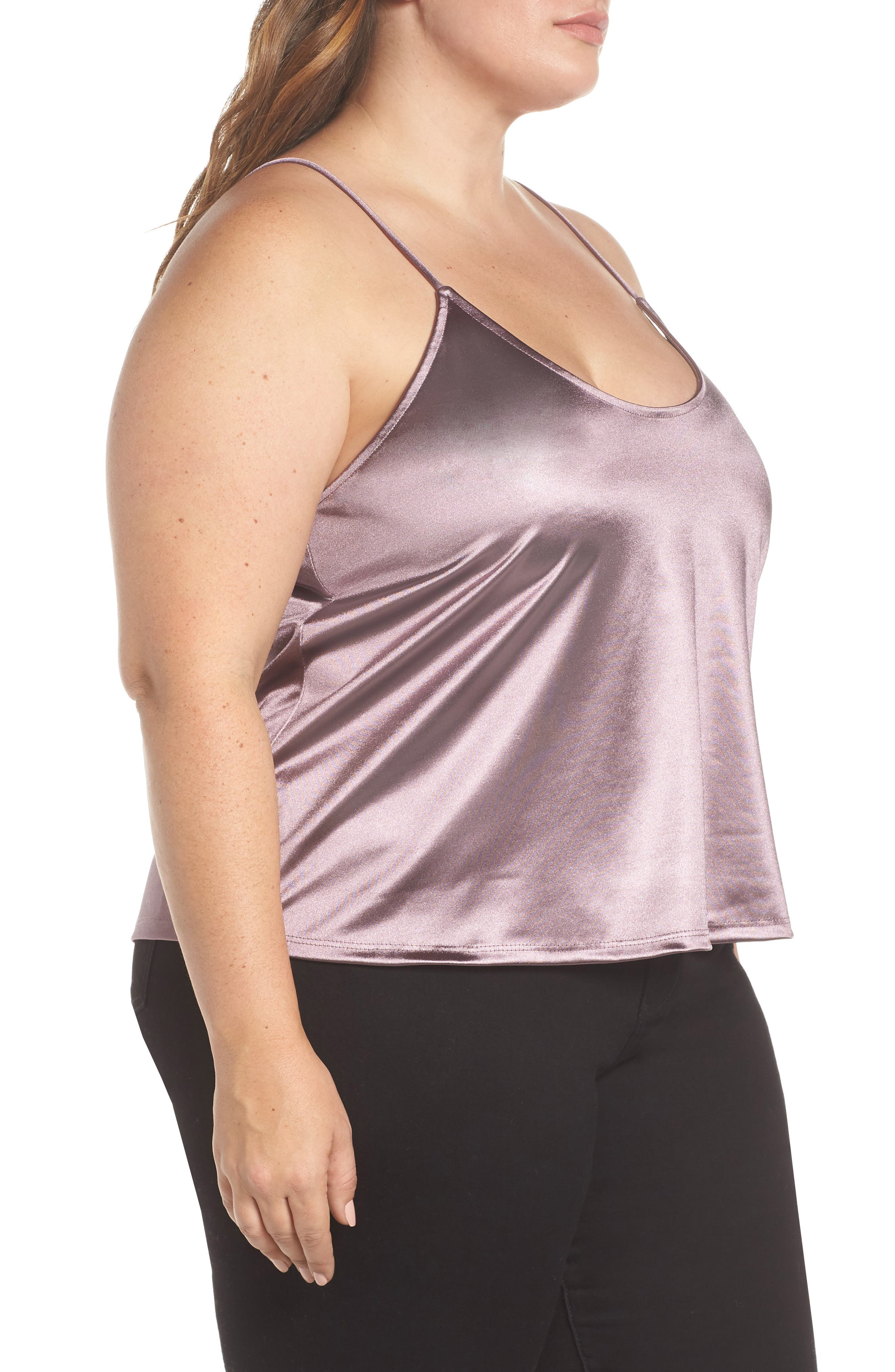LEITH,                             Everday Satin Camisole,                             Alternate thumbnail 3, color,                             530
