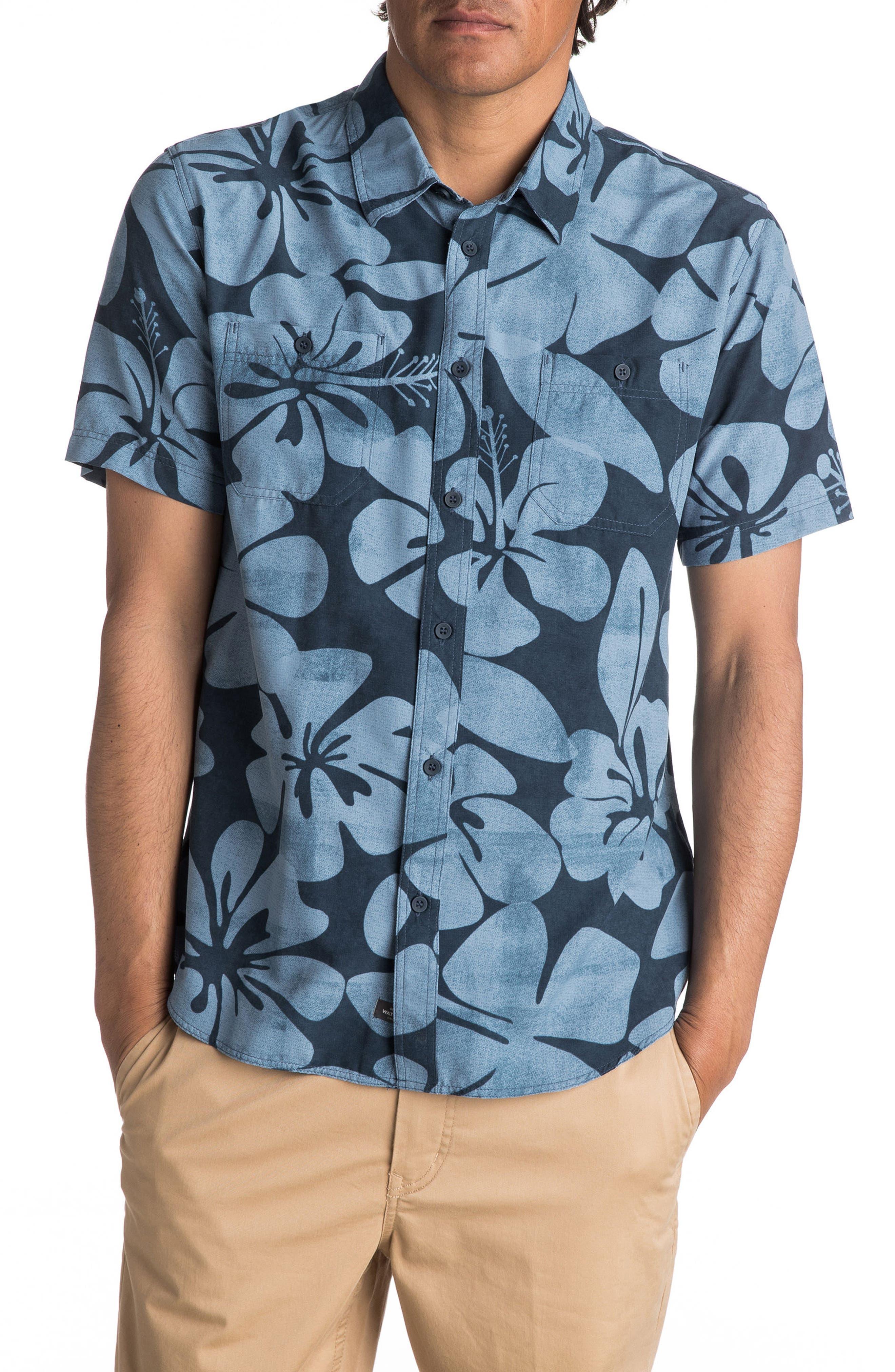 Wake Idyll Print Sport Shirt,                             Main thumbnail 2, color,