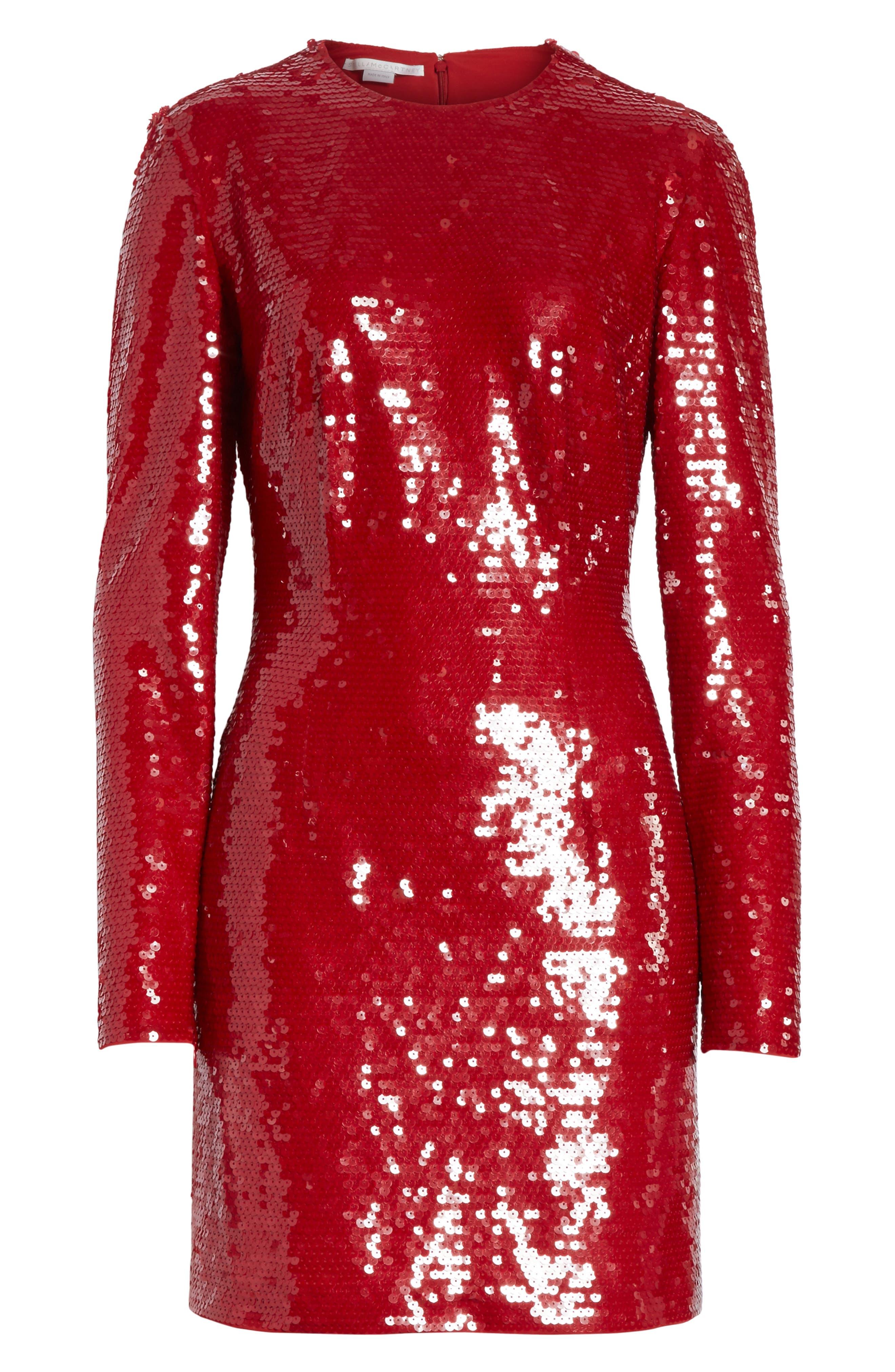 Katie Sequin Dress,                             Alternate thumbnail 6, color,                             600