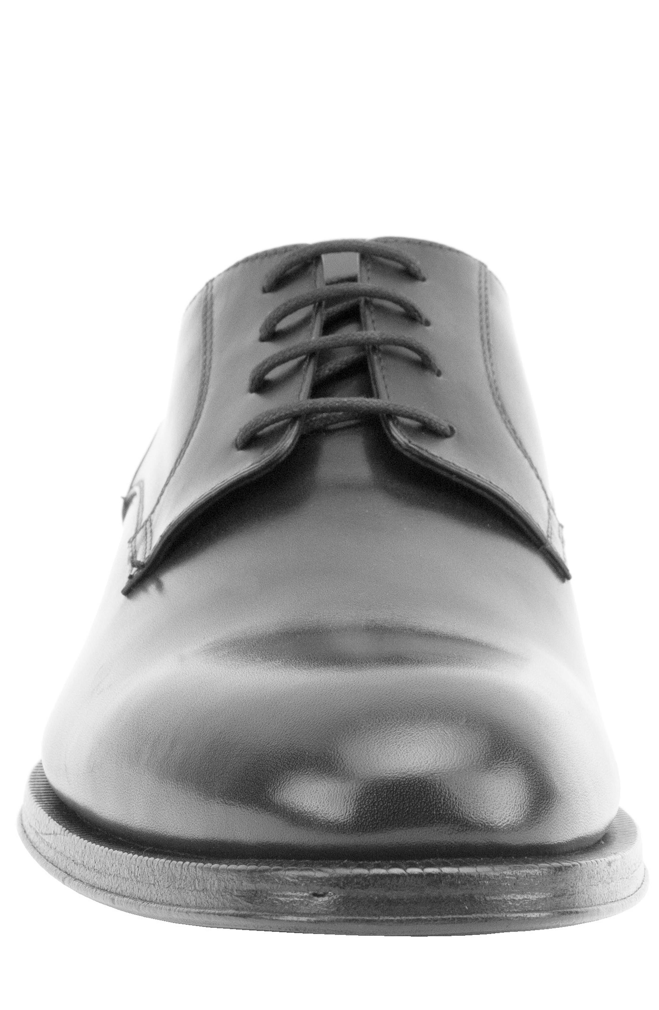 Devin Plain Toe Derby,                             Alternate thumbnail 4, color,                             BLACK