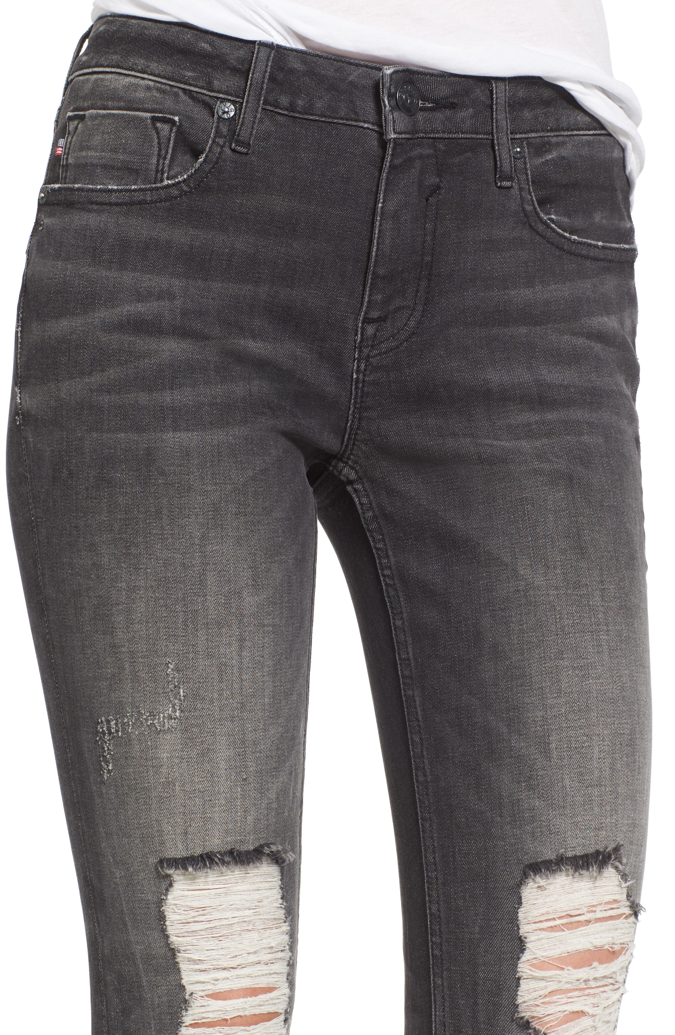 Jagger Ripped Skinny Jeans,                             Alternate thumbnail 4, color,                             020