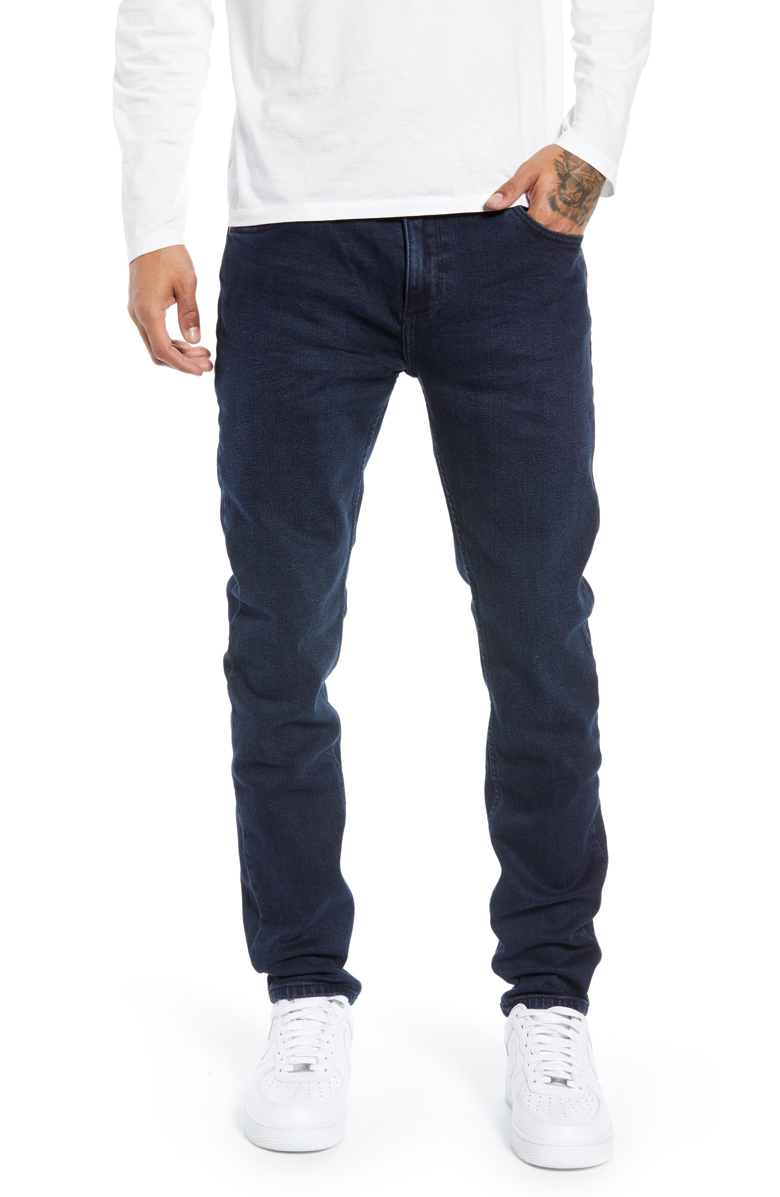 ROLLA'S Stinger Skinny Fit Jeans in Stone Free Blue