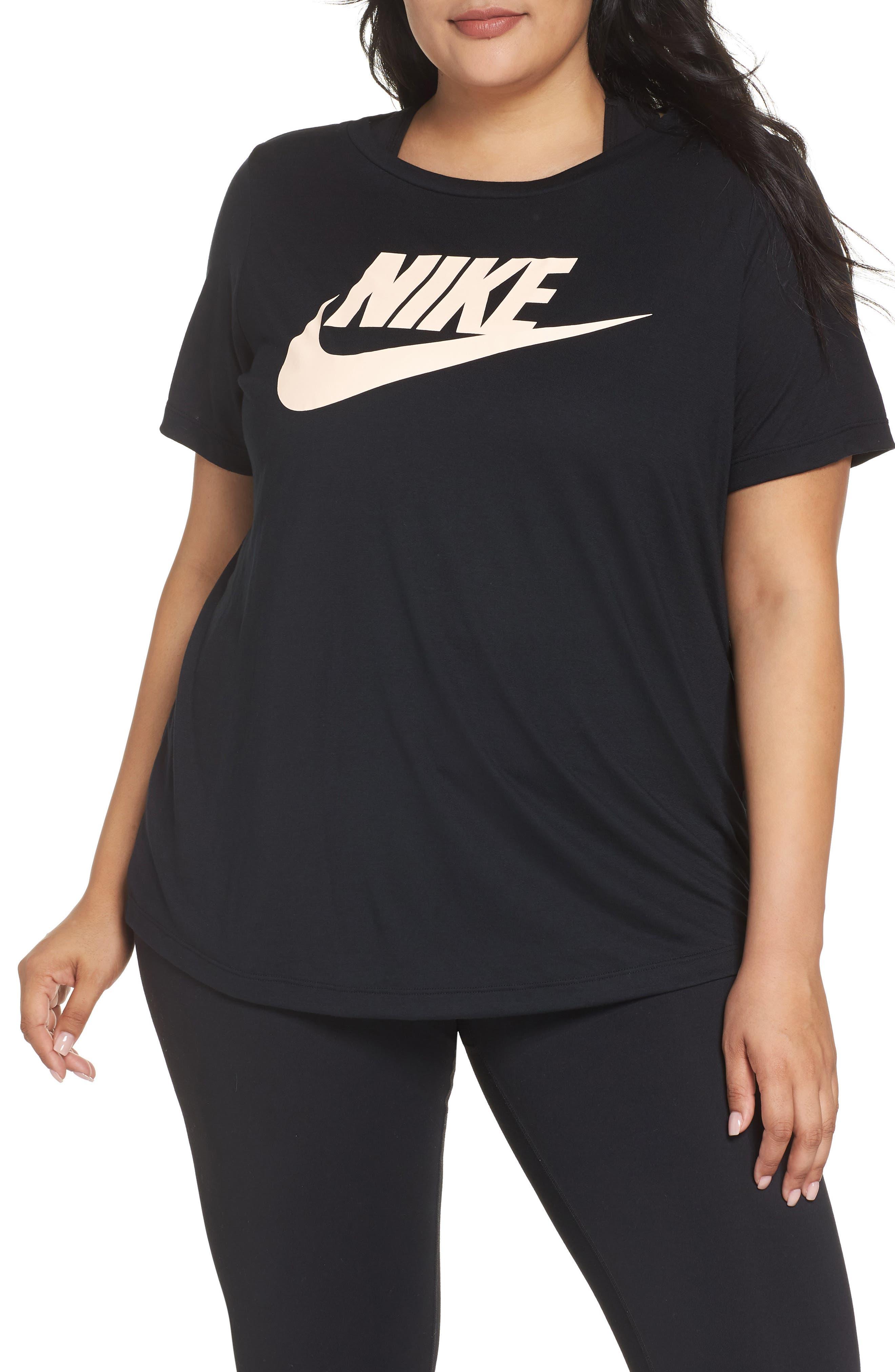 Plus Size Nike Essential Tee, Black