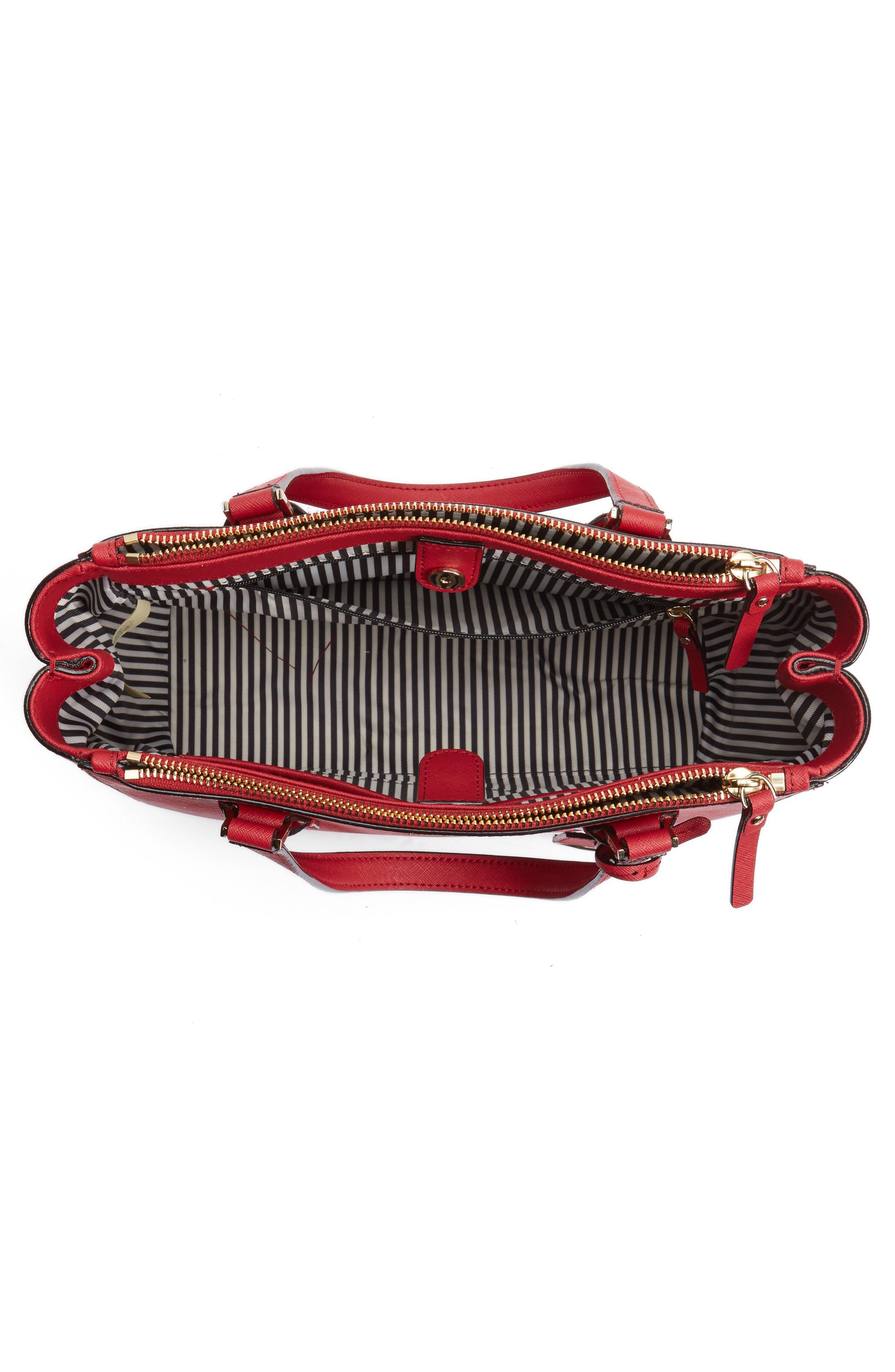 cameron street - teegan calfskin leather satchel,                             Alternate thumbnail 4, color,                             638