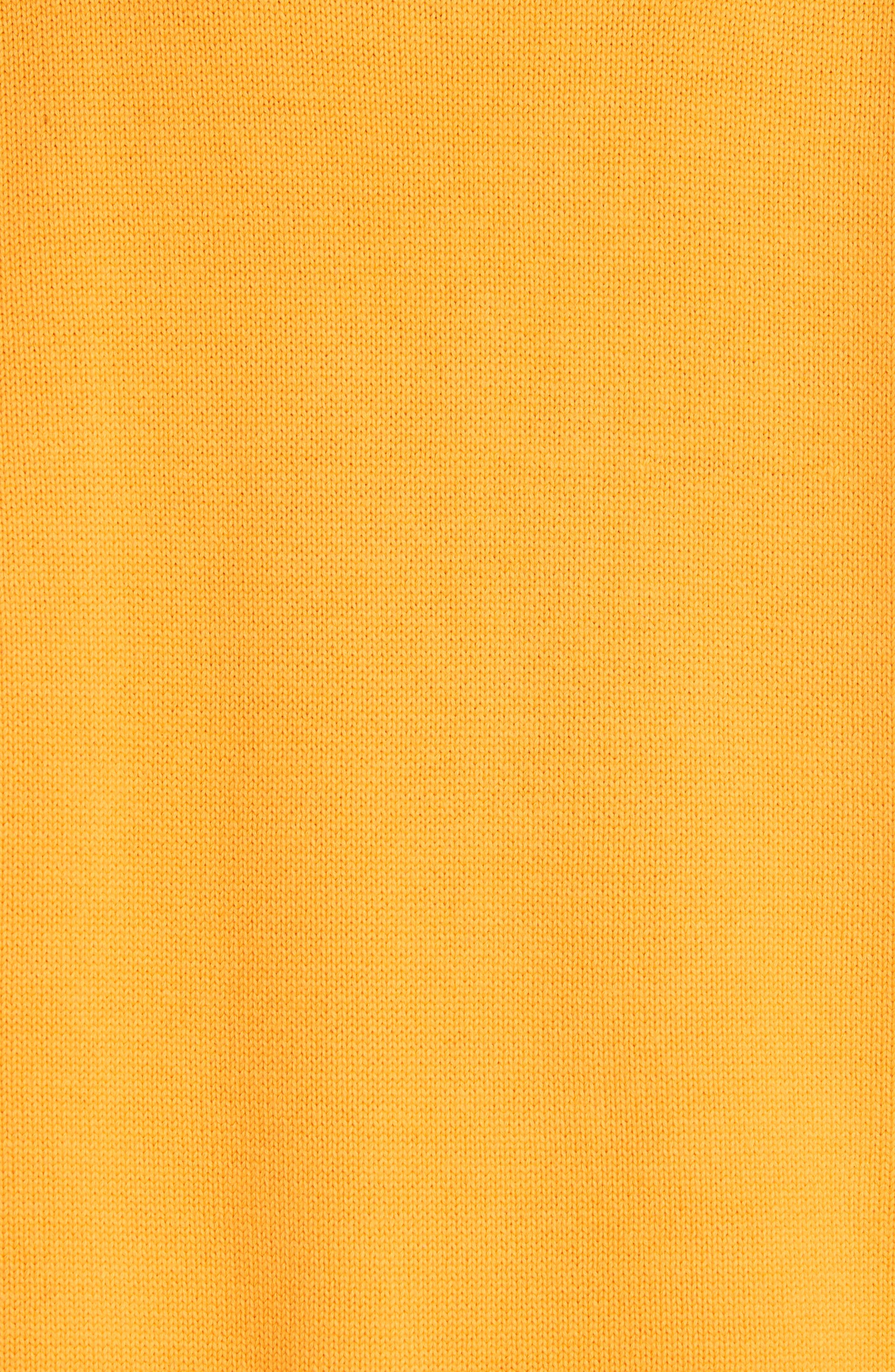 VICTOR GLEMAUD,                             Layered Cotton & Cashmere Turtleneck Sweater,                             Alternate thumbnail 5, color,                             ORANGE COMBO